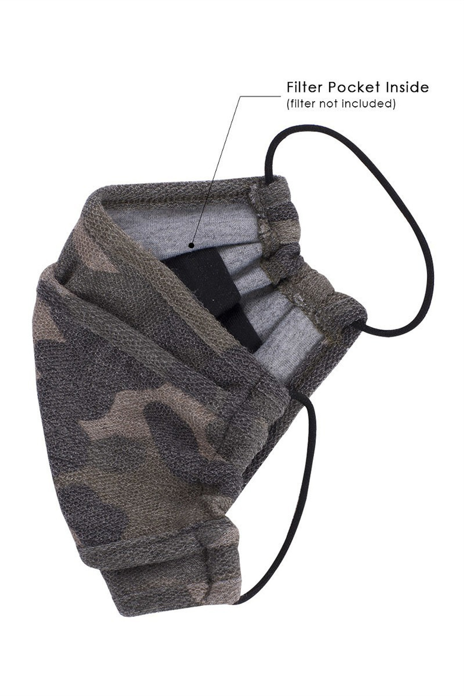 Tri-Fold Rustic Camouflage Face Mask - Made in USA