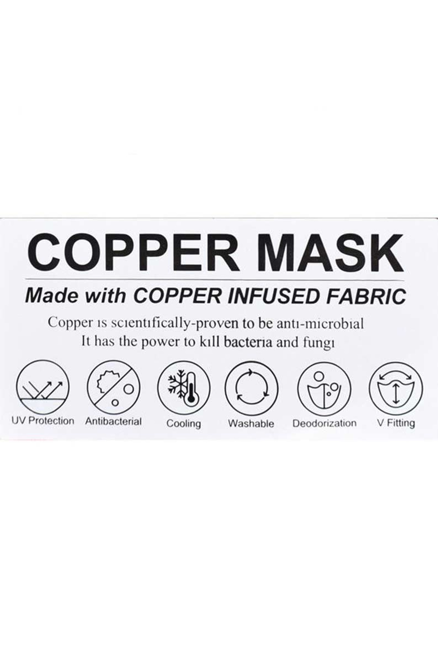 Kid's Copper Infused Face Mask - Anti-Microbial