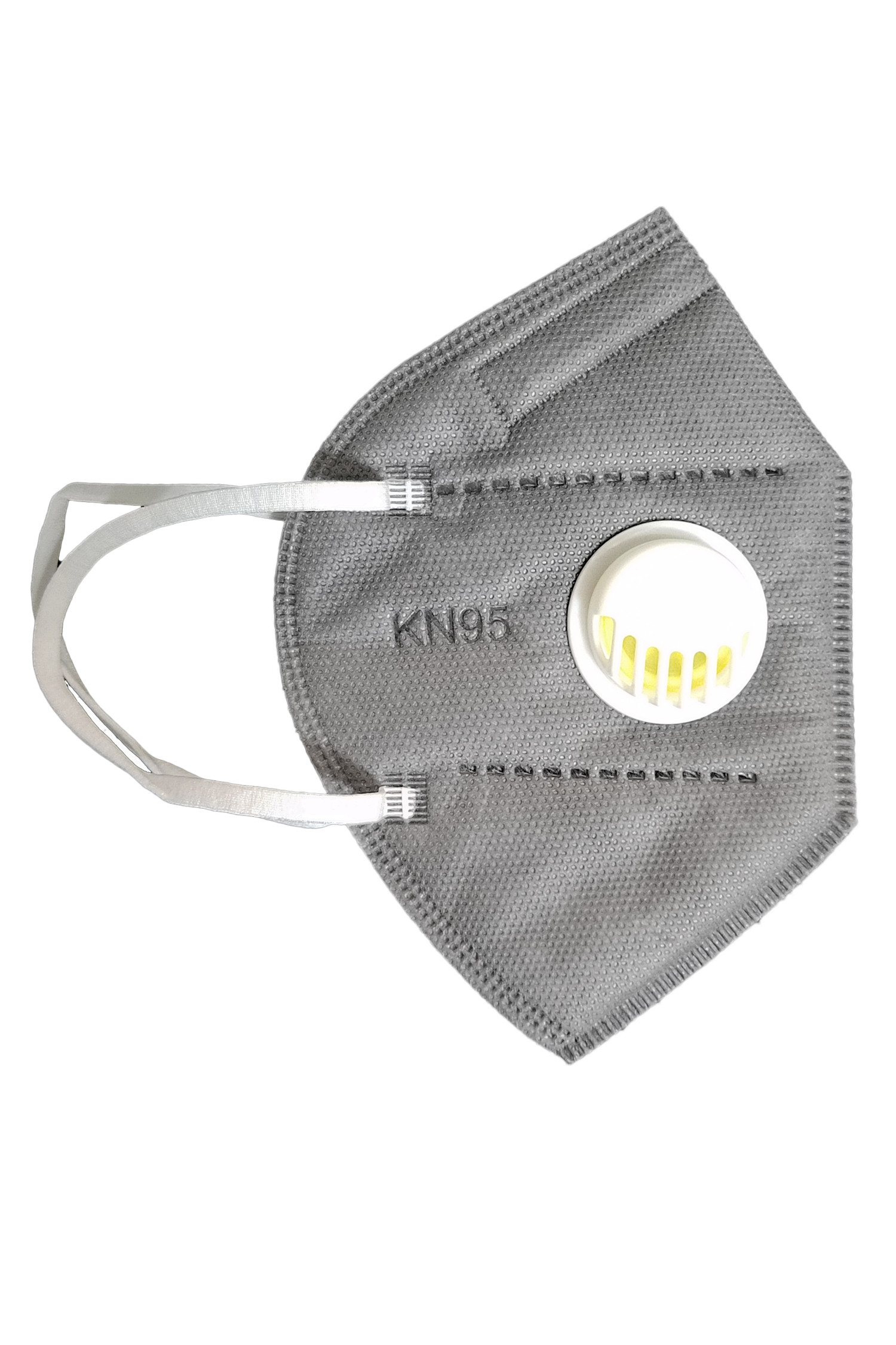 Grey Black KN95 Face Mask with Air Valve