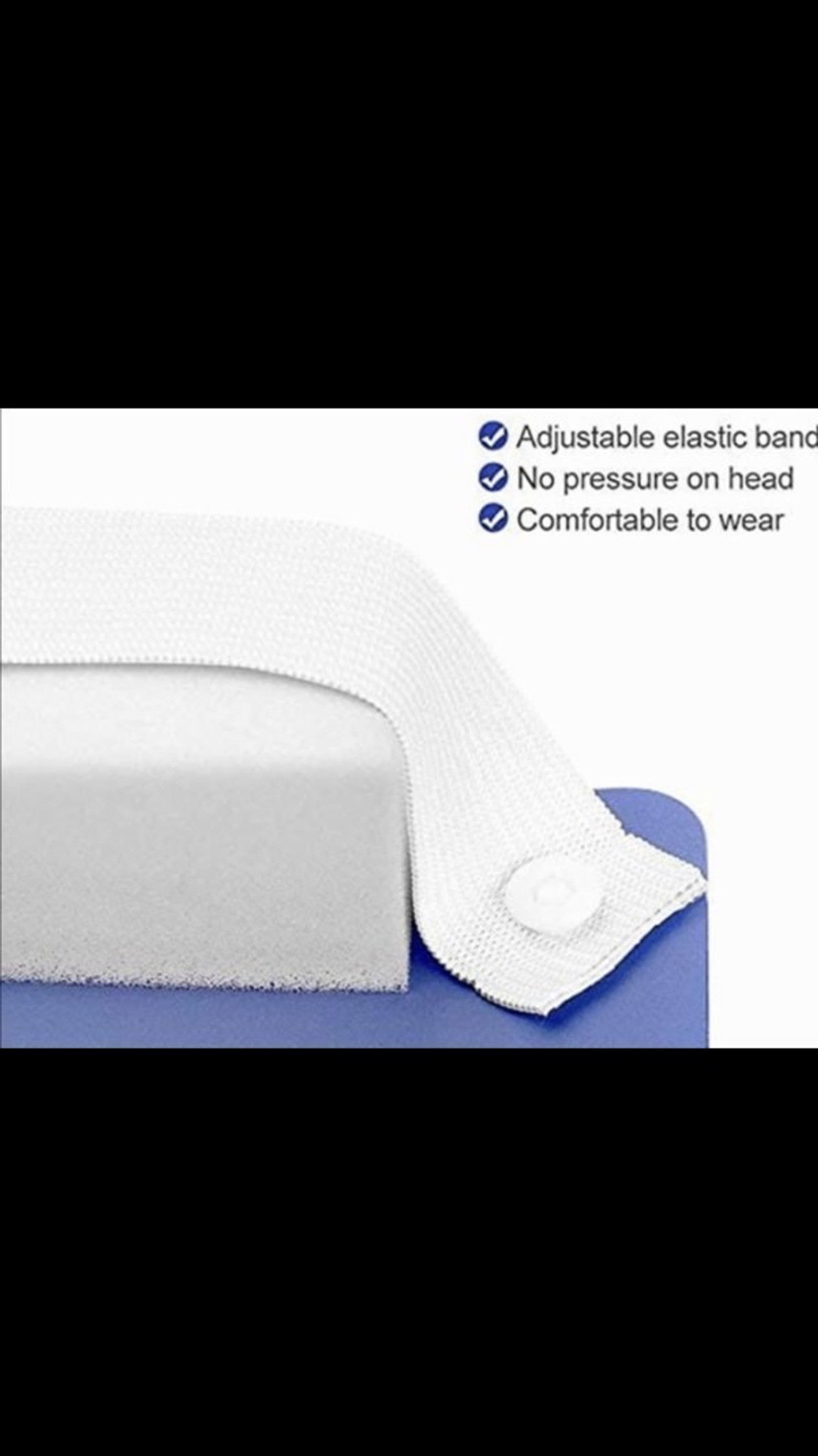 Protective Face Shields - Anti Splash Film with Elastic Band and Comfort Sponge - 5 Pack