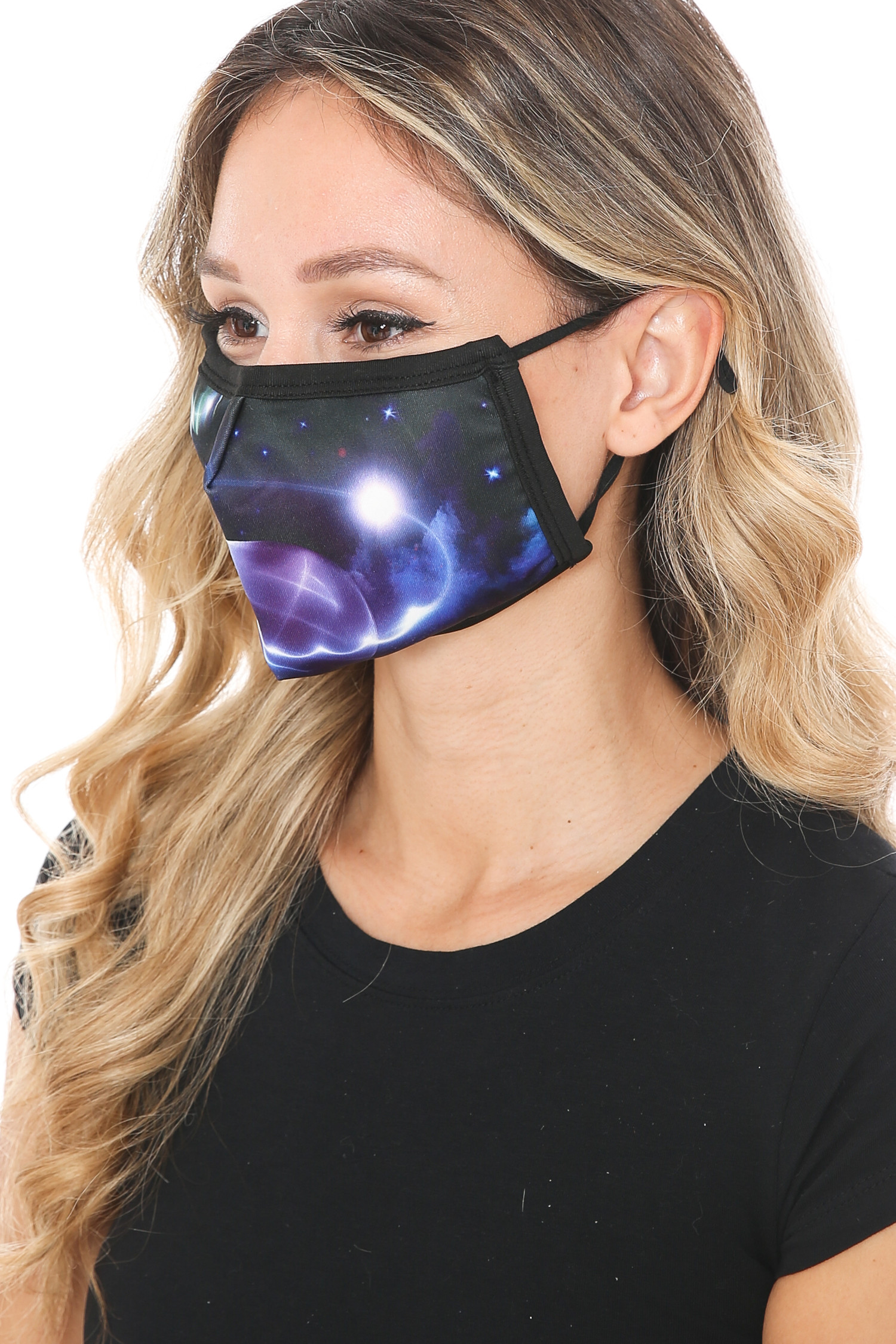 Galactic Flare Graphic Print Face Mask