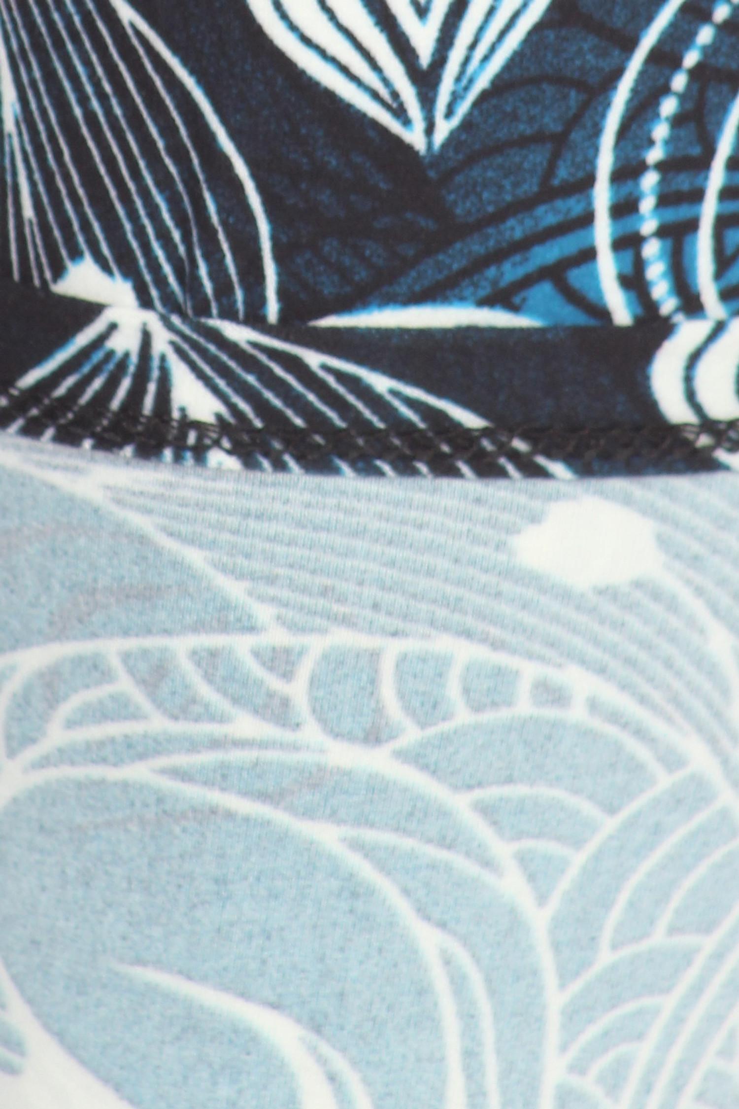 Buttery Soft Beautiful Blue Swirl Leggings