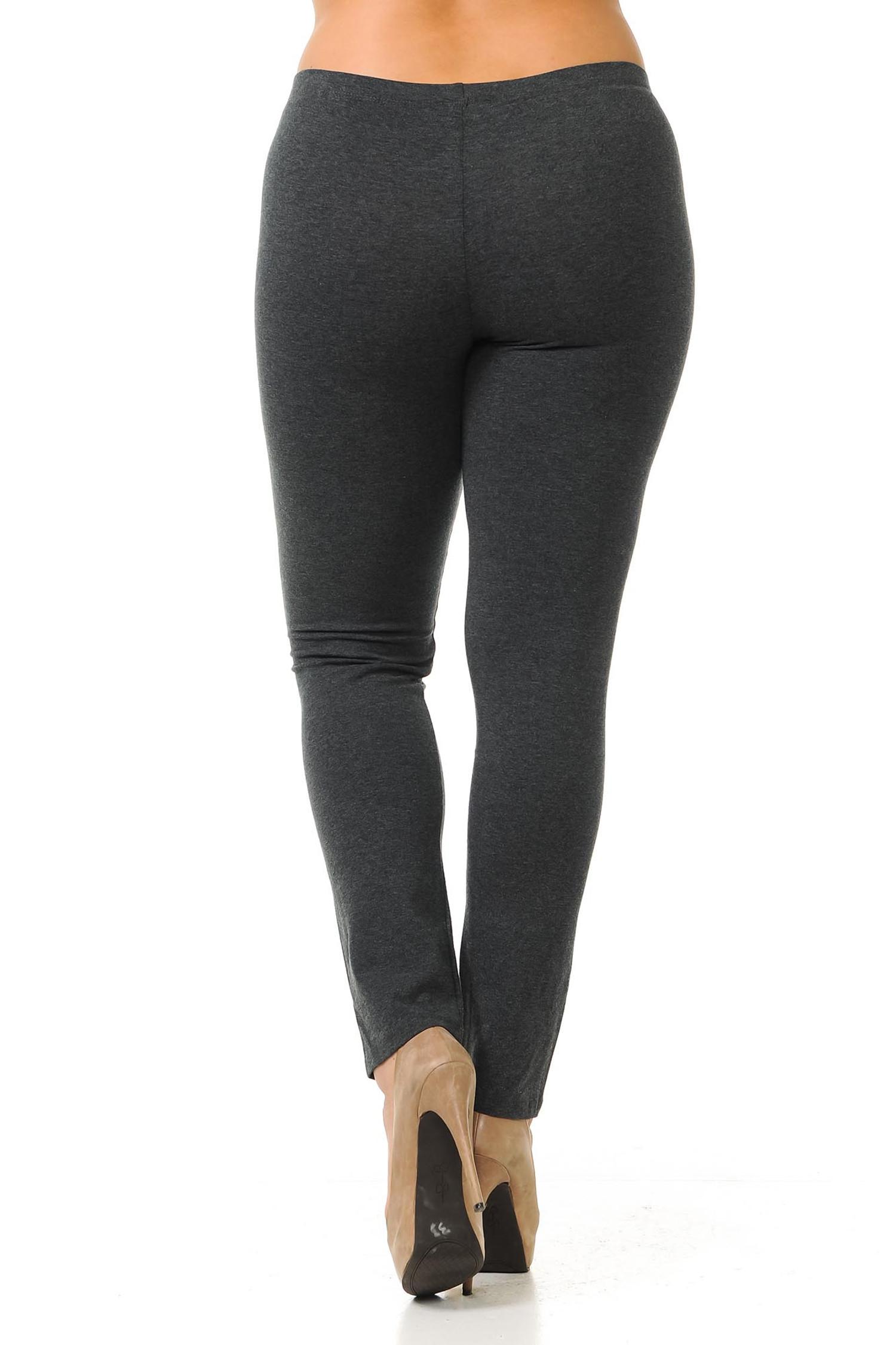 USA Cotton Full Length Leggings - Plus Size