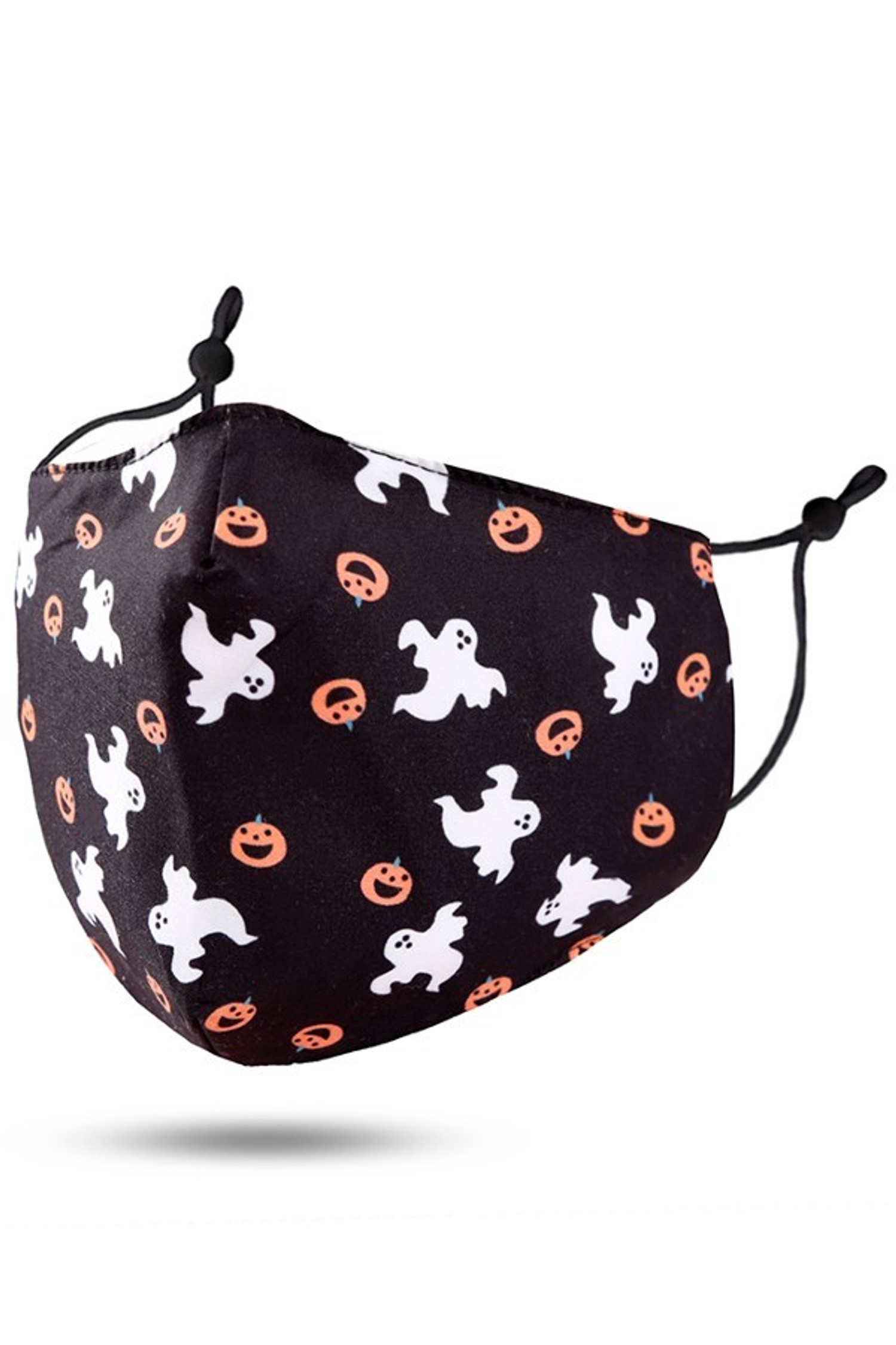 Ghosts and Pumpkins Halloween Face Mask
