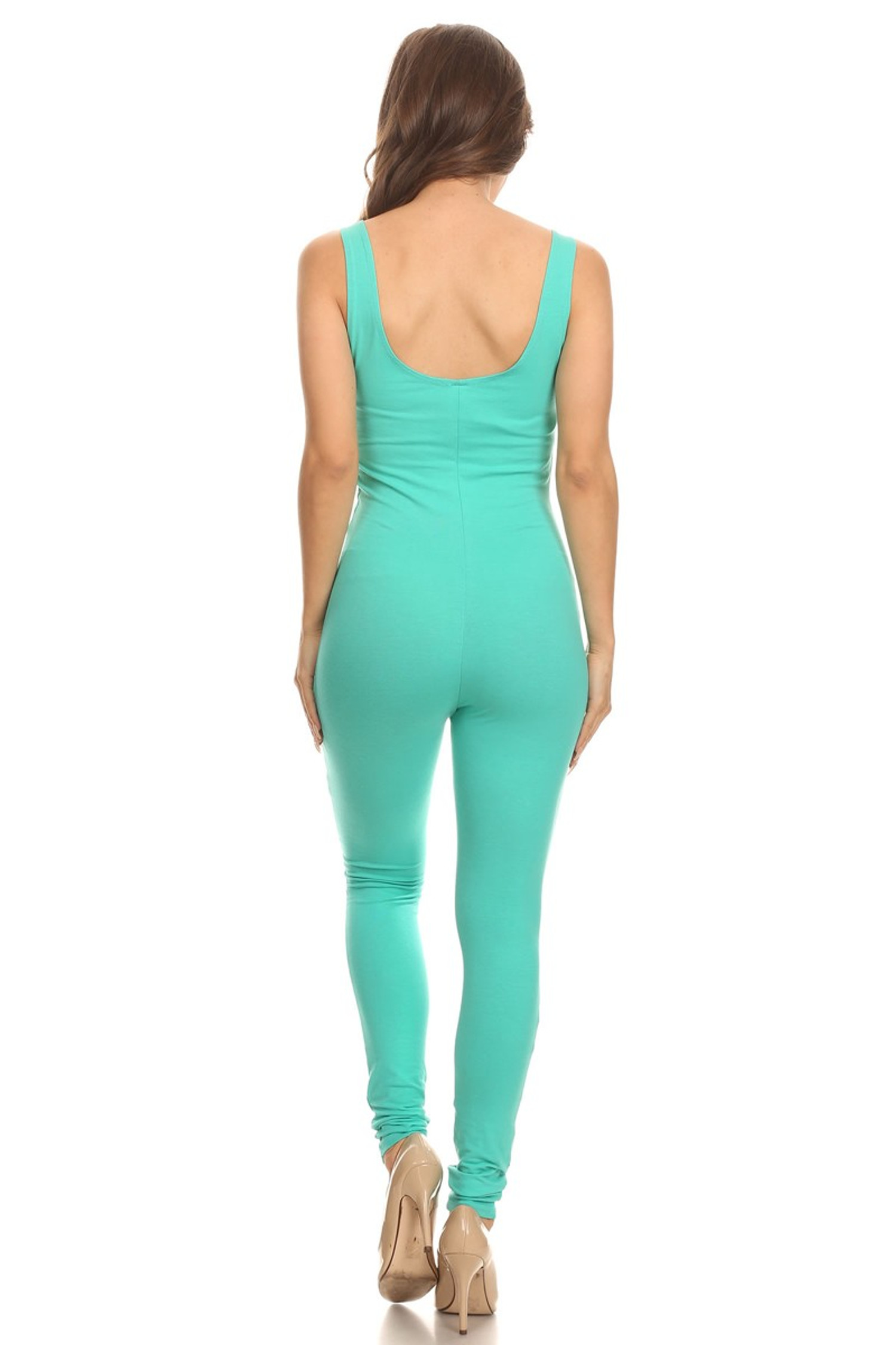 Back side image of USA Basic Cotton Jumpsuit
