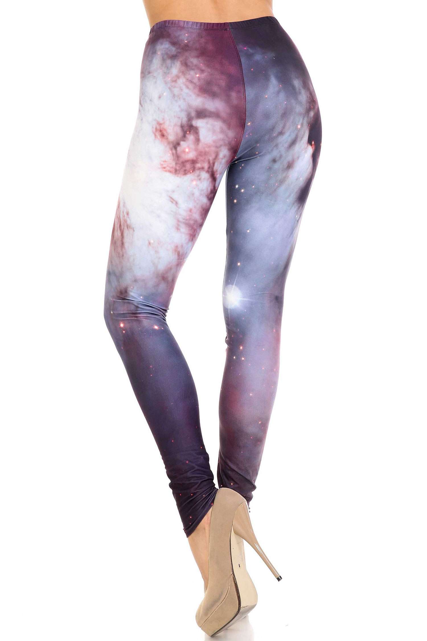 Creamy Soft Black Galaxy Plus Size Leggings - USA Fashion™