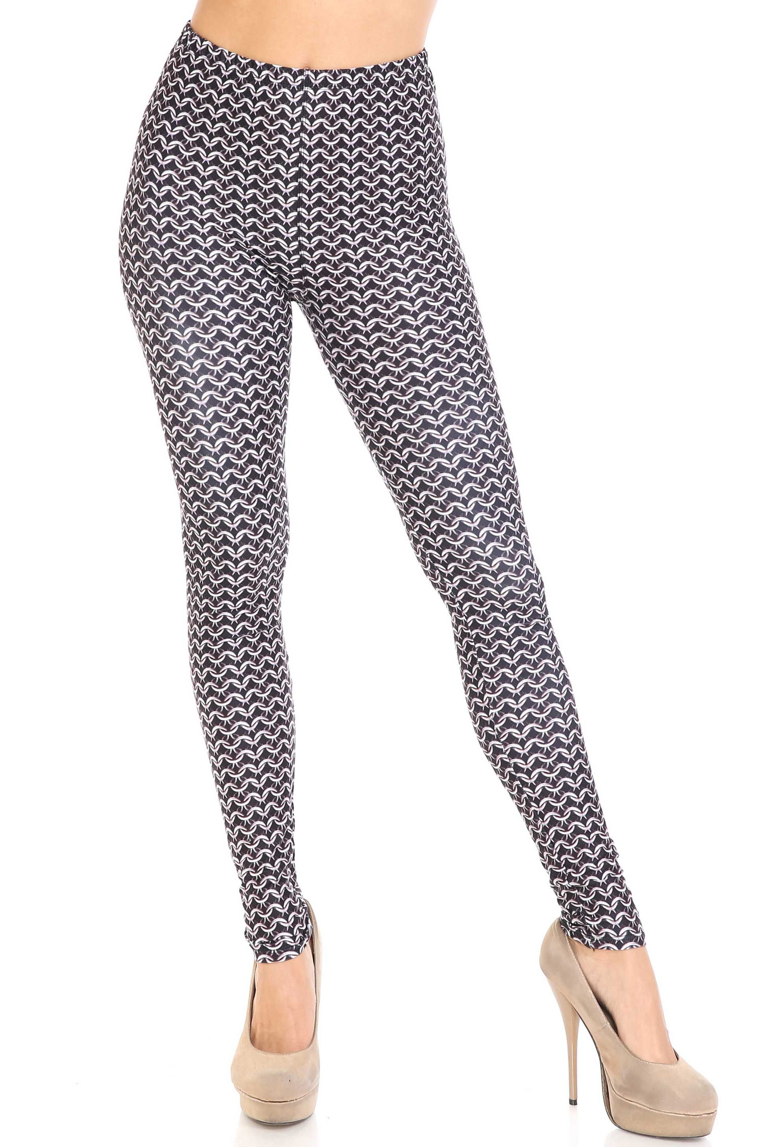 Creamy Soft Chainmail Leggings - USA Fashion™