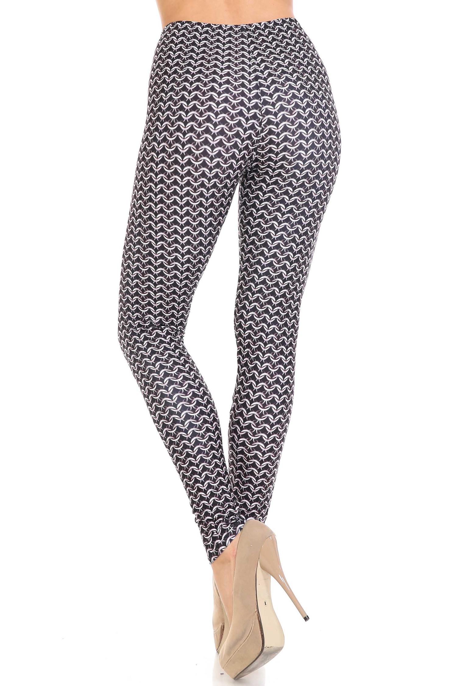 Creamy Soft Chainmail Plus Size Leggings - USA Fashion™