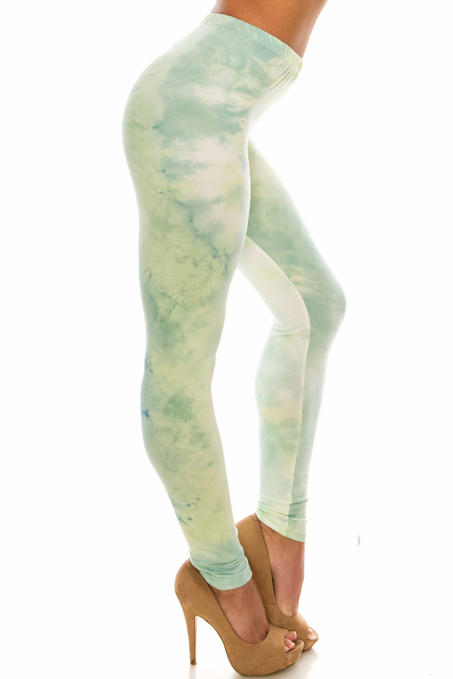 Buttery Soft Mint Tie Dye Leggings