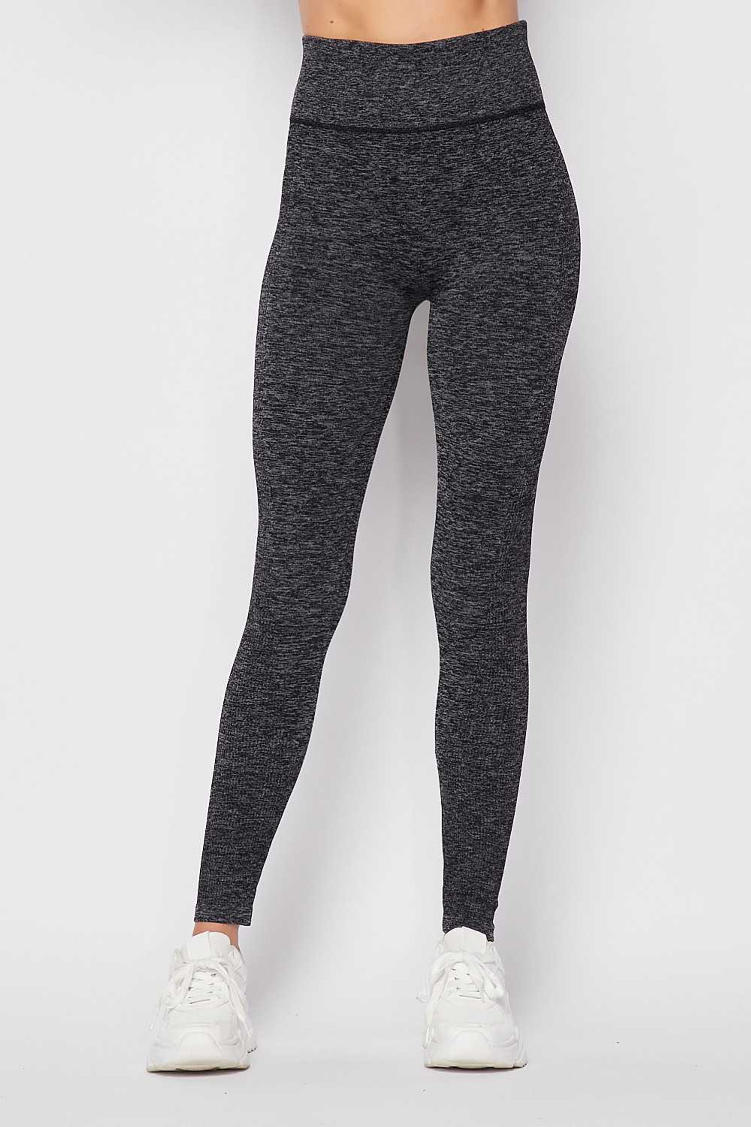 Charcoal Premium Comfort Body Wrapped High Waist Workout Leggings