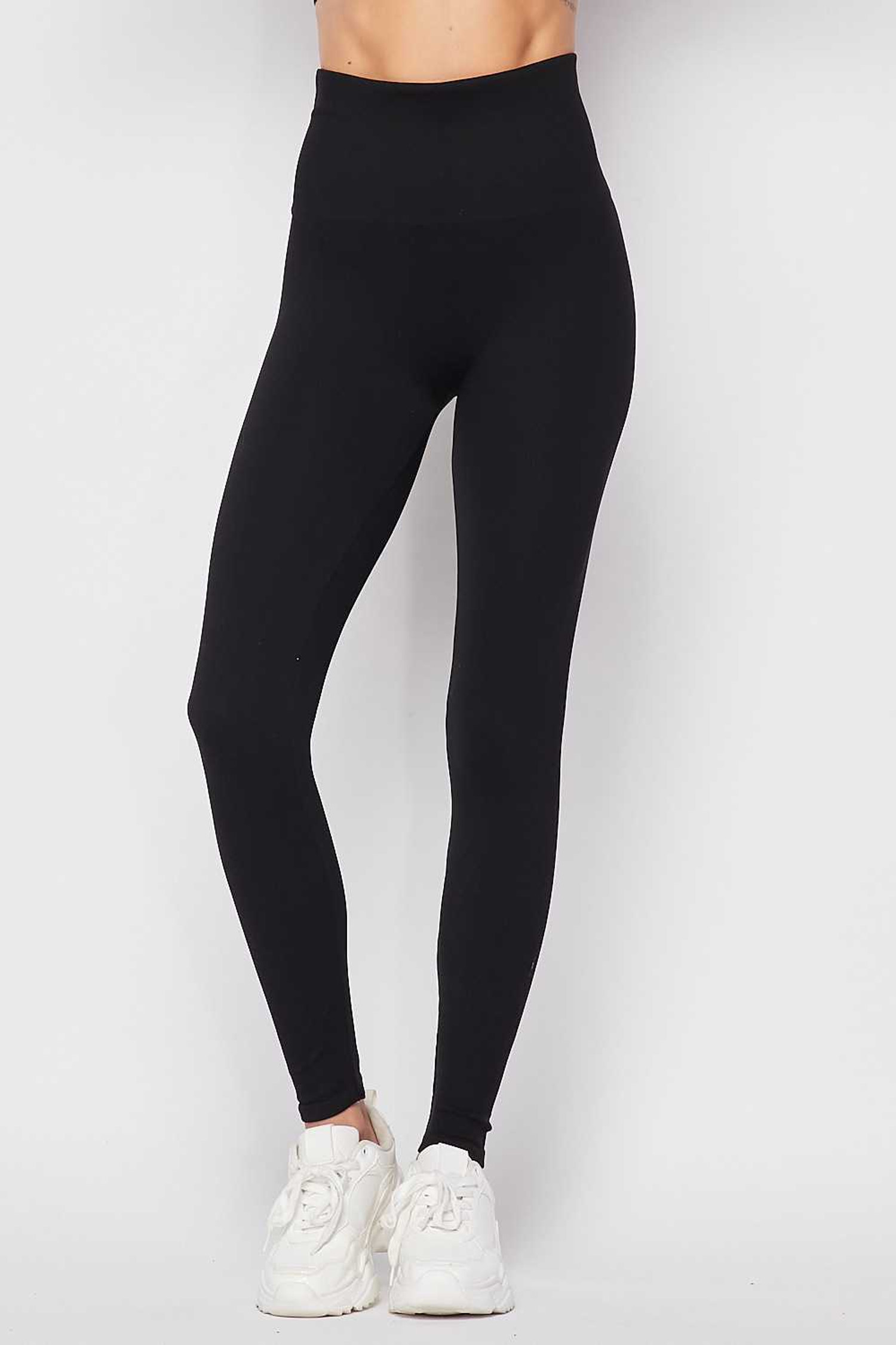 Black Premium Comfort Body Wrapped High Waist Workout Leggings