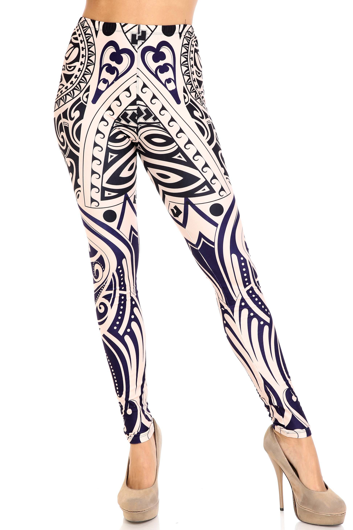 Front side image of Creamy Soft Valhalla Extra Plus Size Leggings - 3X-5X - USA Fashion™
