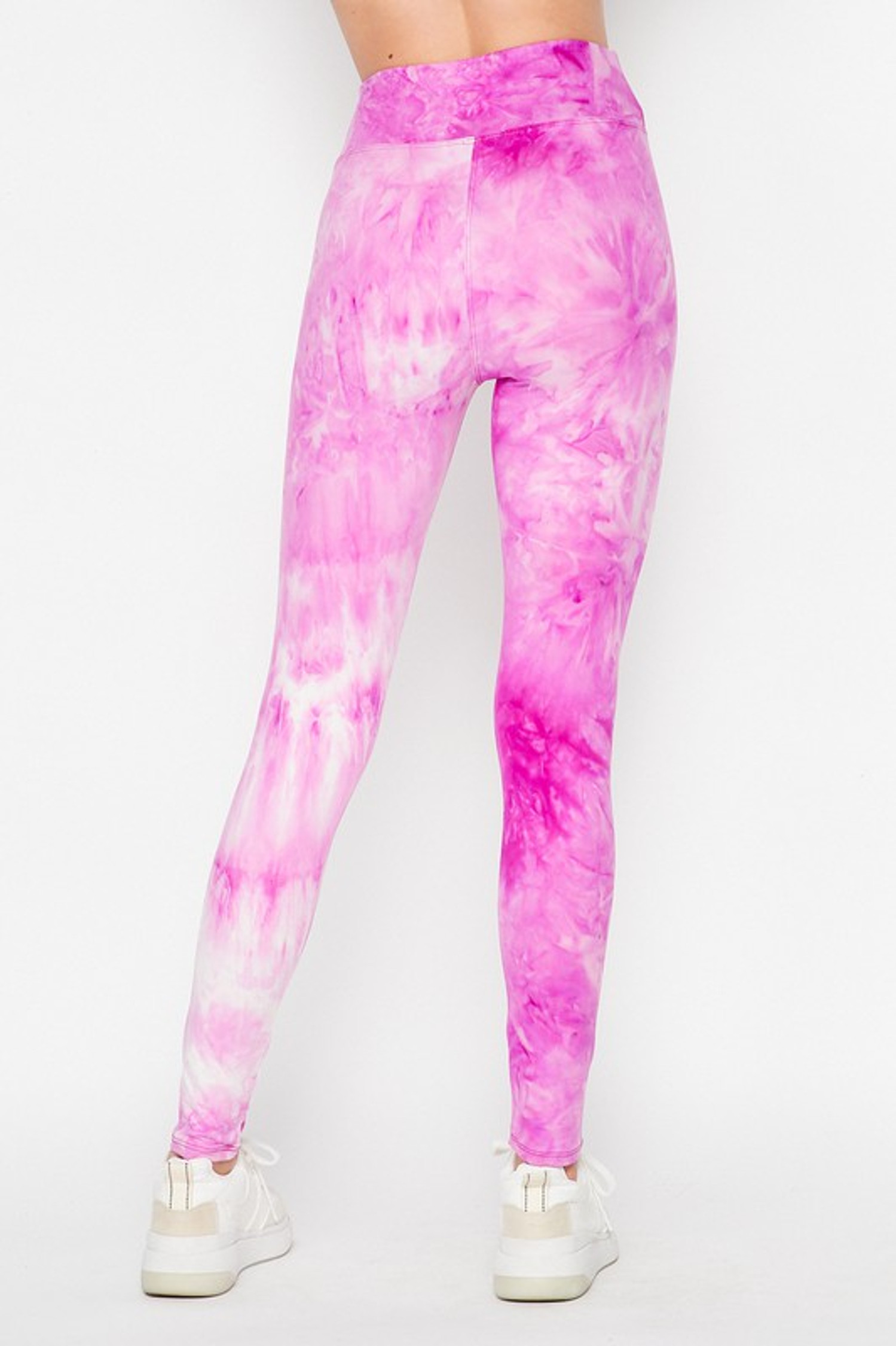 Back of Violet Purple Buttery Soft Tie Dye High Waisted Leggings
