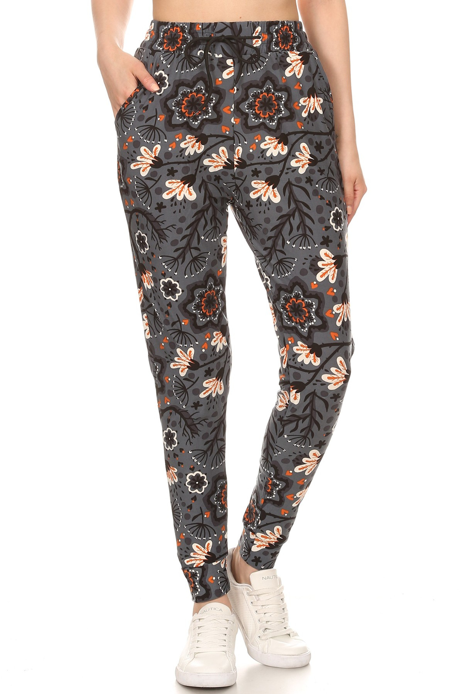 Buttery Soft Peachy Floral Blossom Joggers