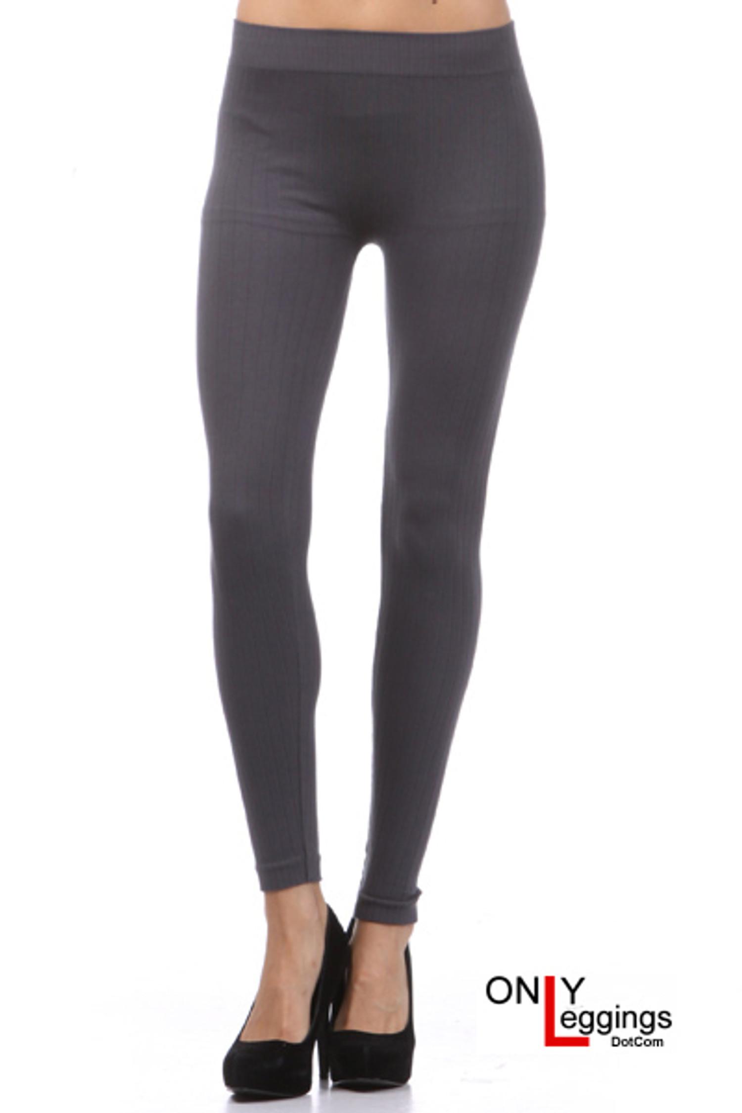 Charcoal Seamless Sweater Leggings