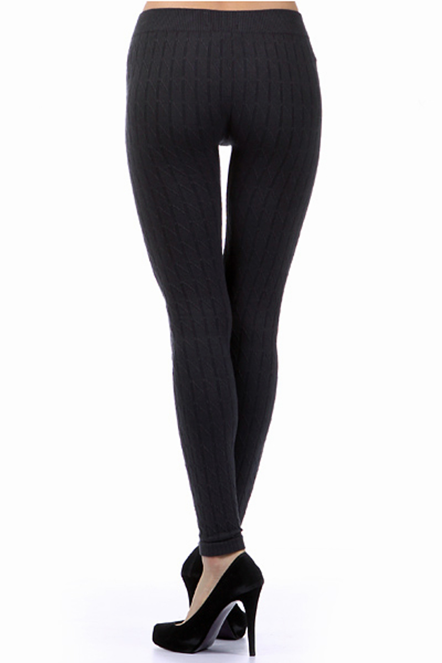 Black Seamless Sweater Leggings
