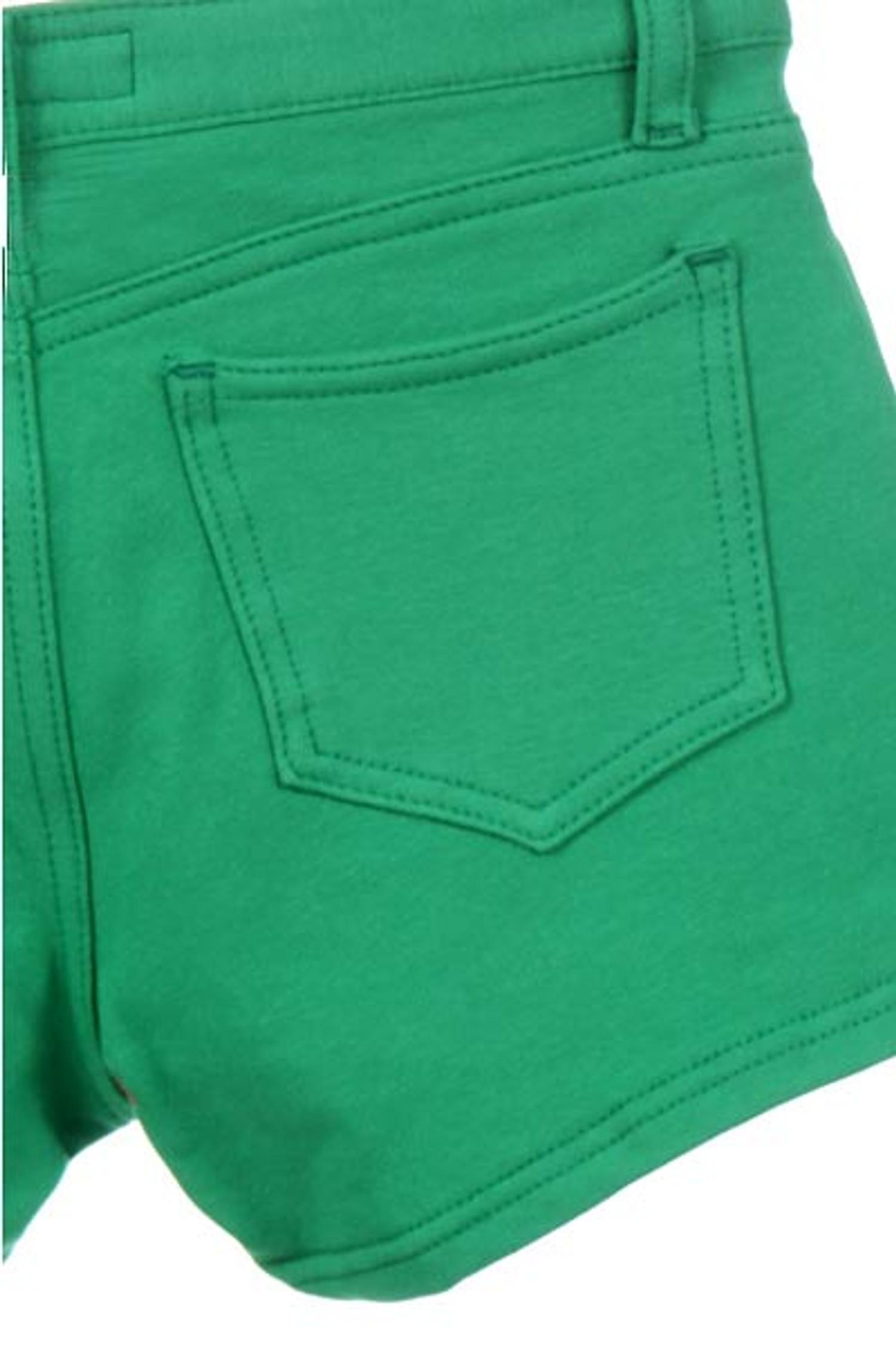 Green Signature Cotton Shorts