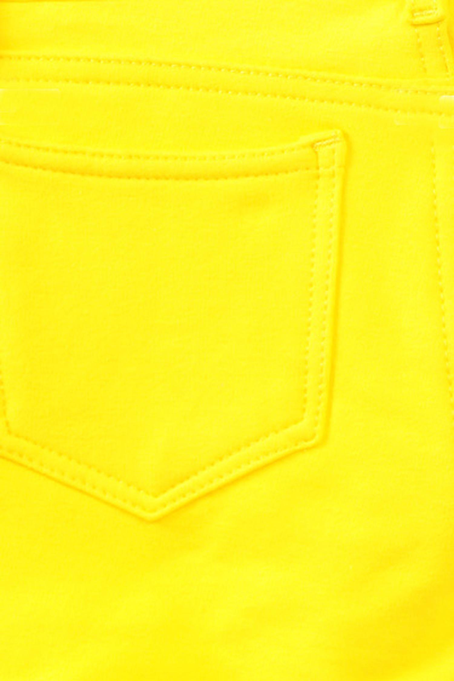 Yellow Signature Cotton Shorts