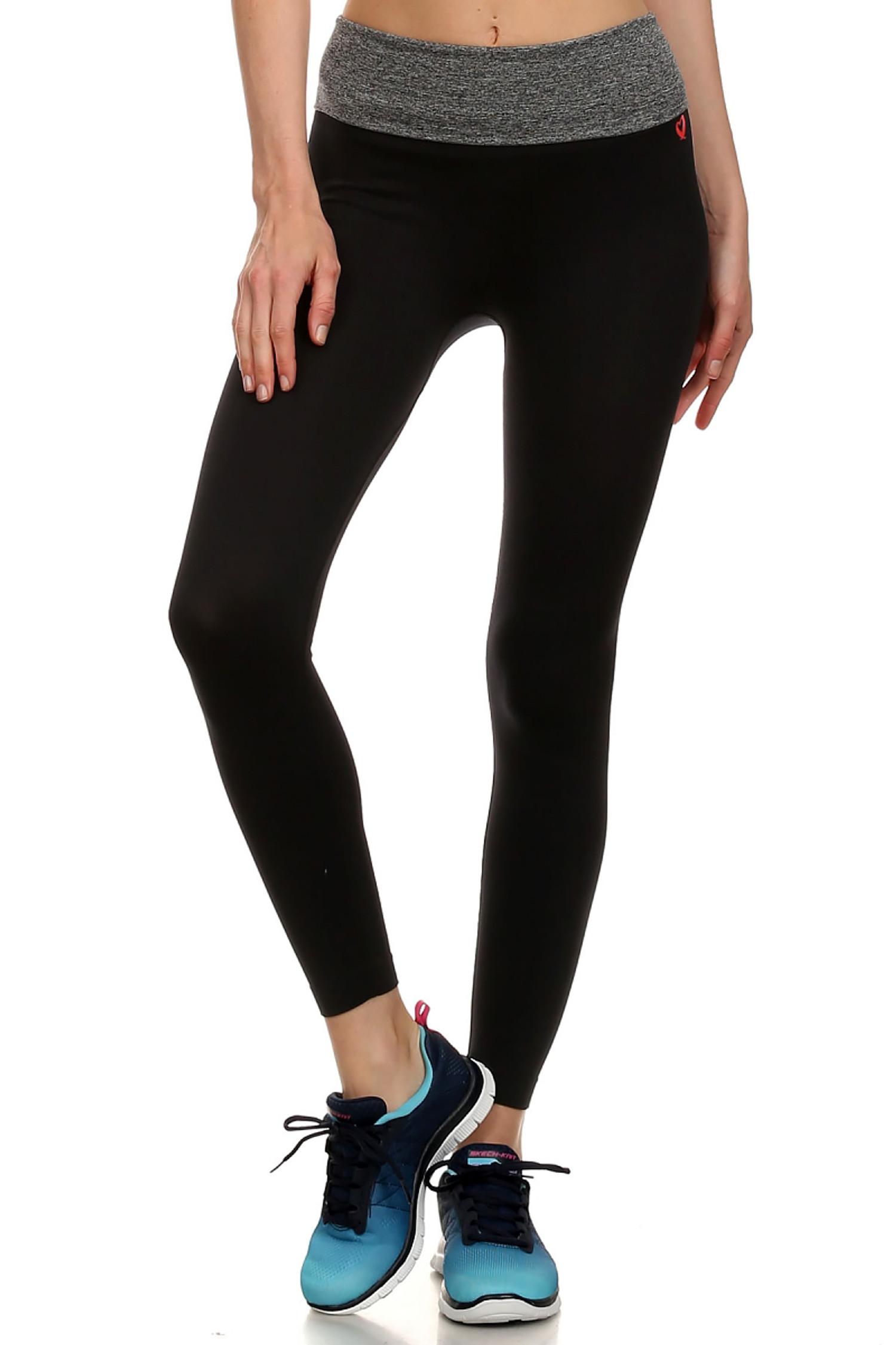 Charcoal Heather Waist Sport Leggings