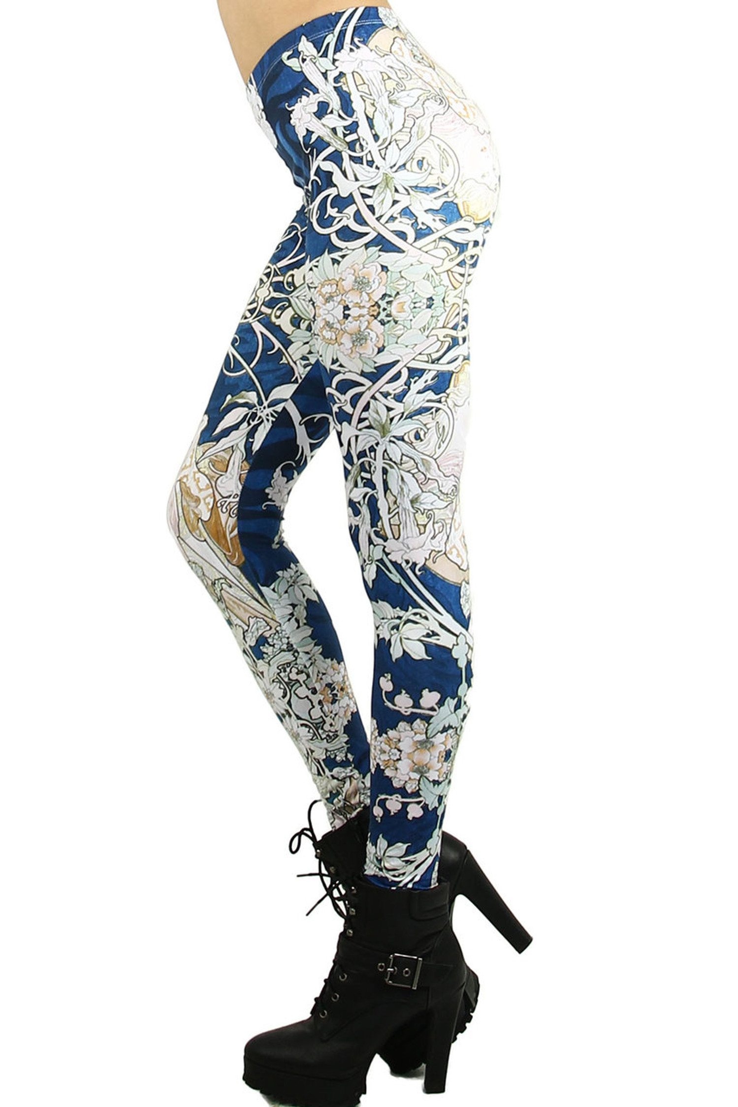 Twisted Vine Floral Leggings