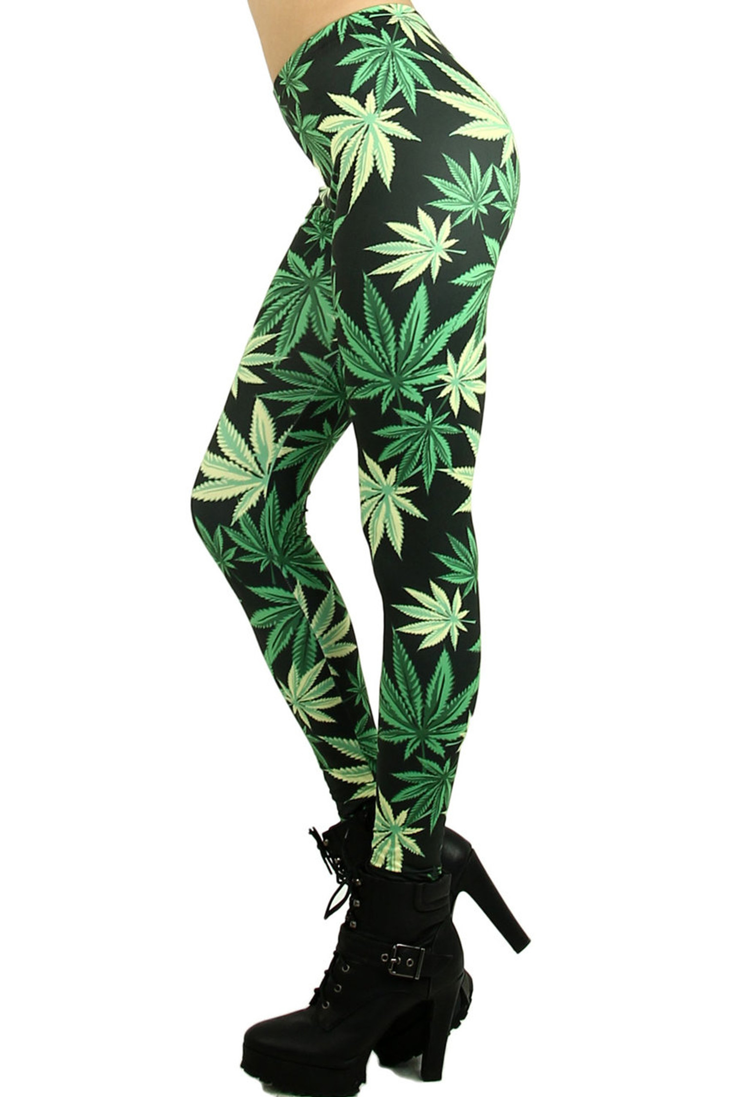 Weed Leaf Leggings