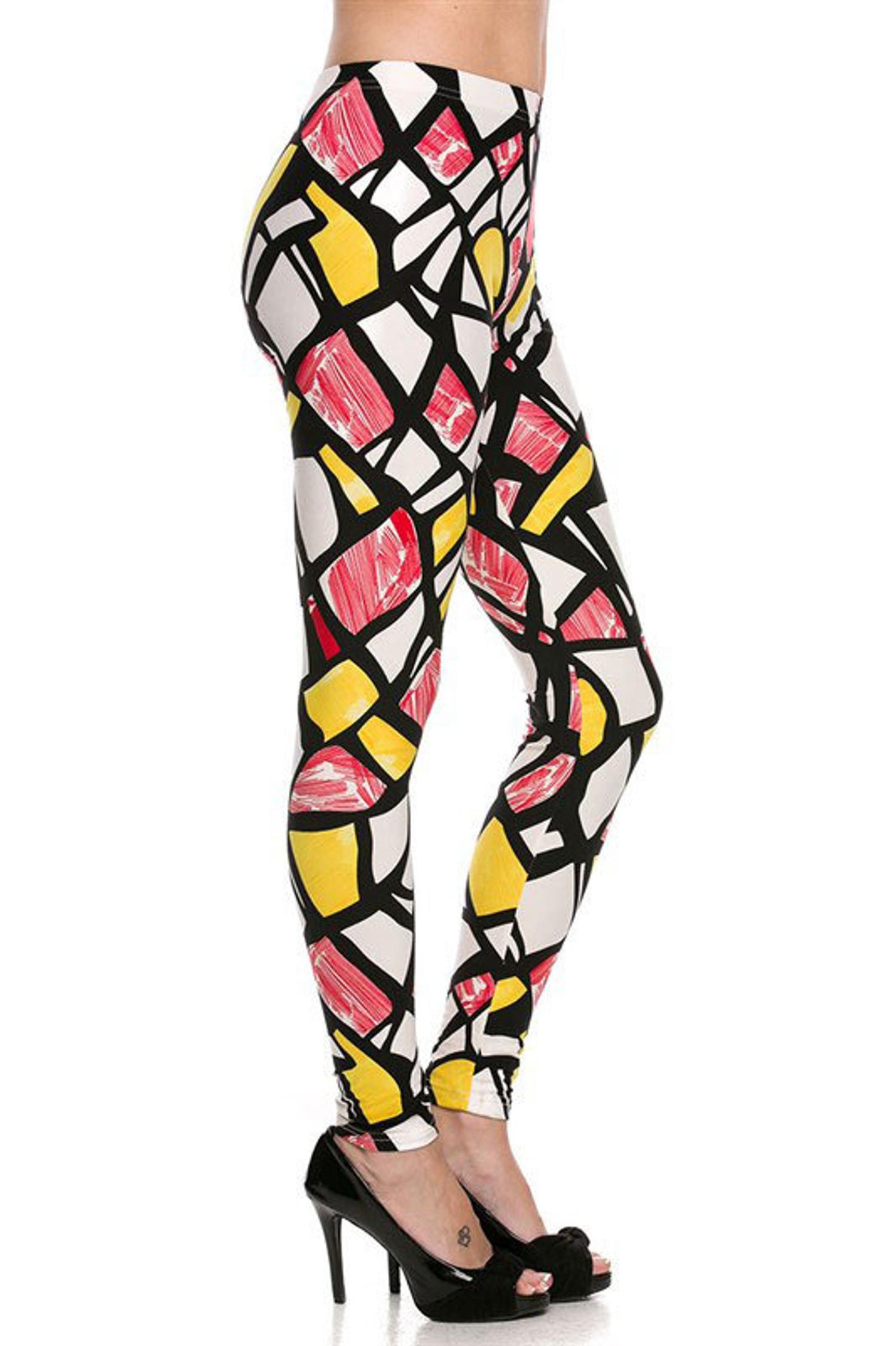 Red Mosaic Leggings