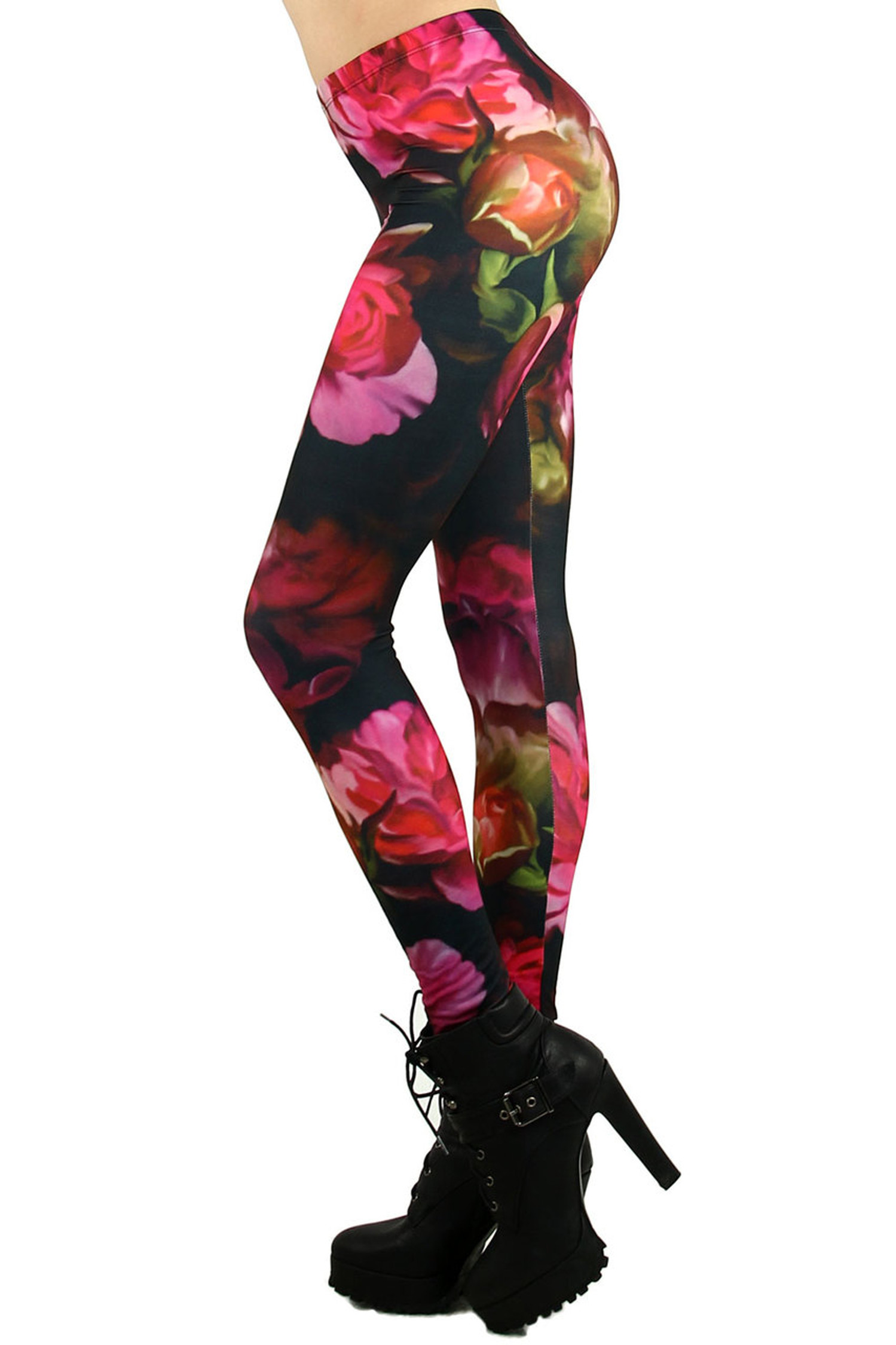 Gorgeous Blooming Rose Leggings
