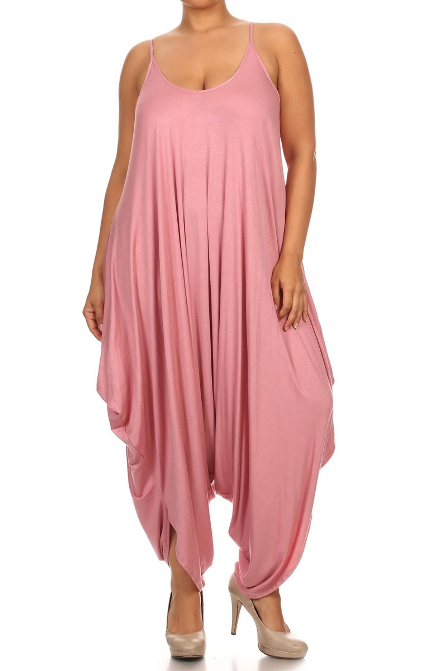 Rose Bohemian Harem Jumpsuit - Plus Size