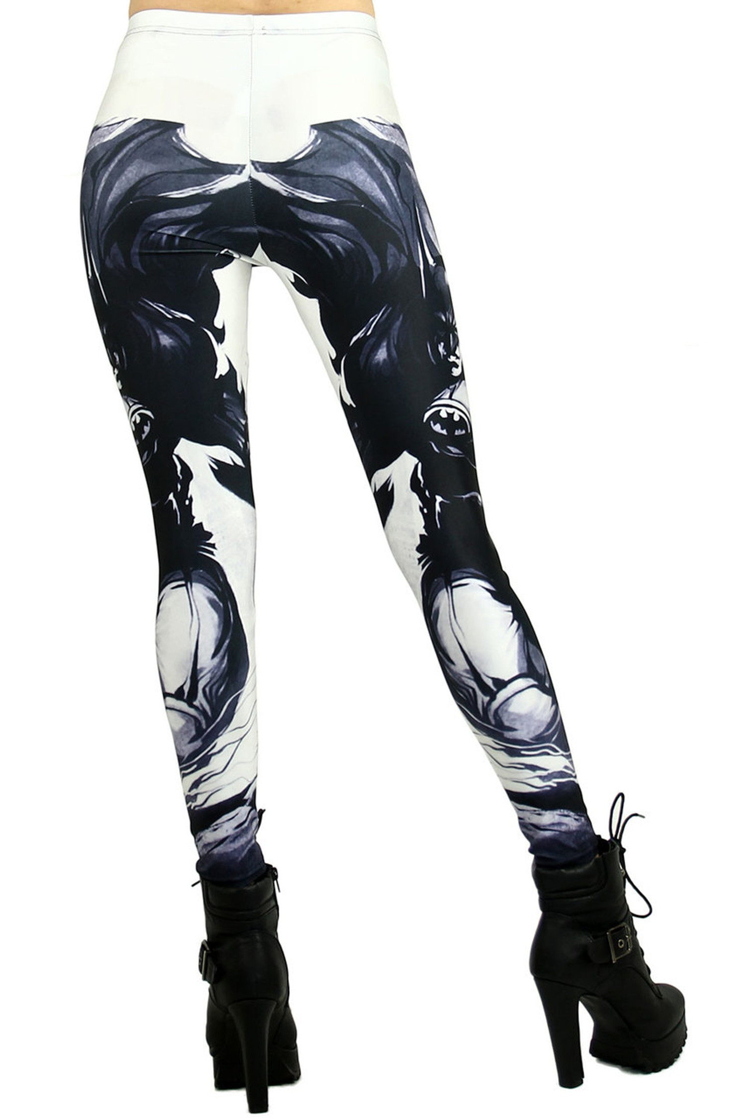 White Gotham Leggings - Plus Size