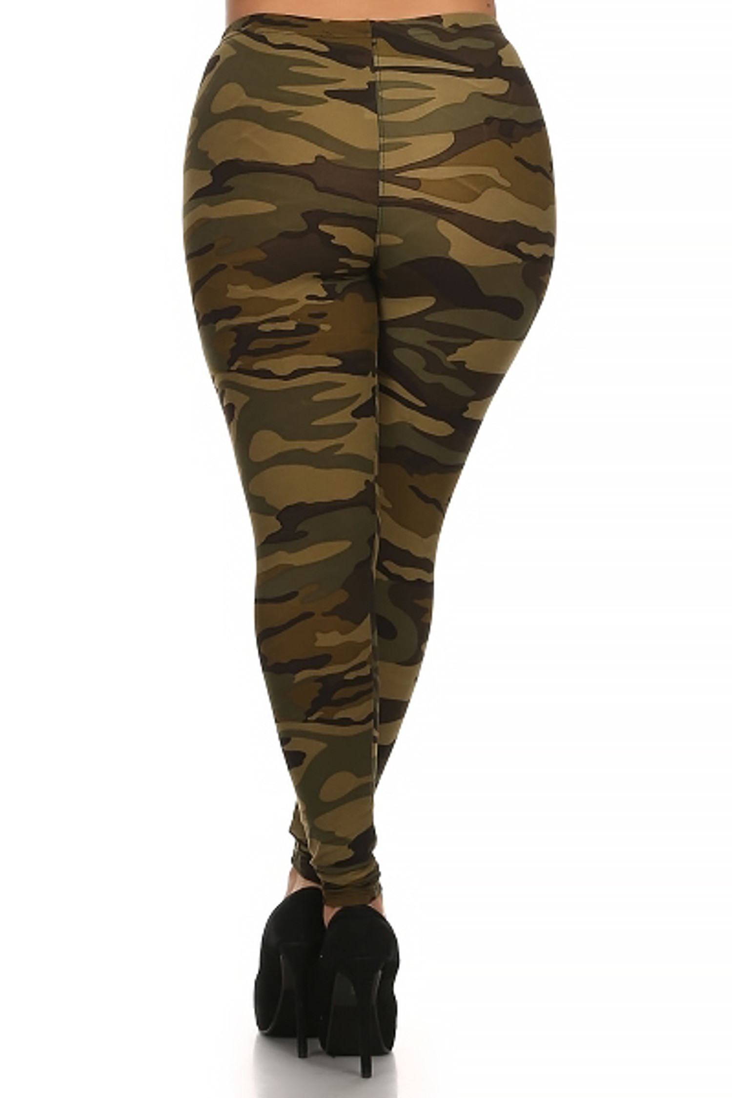 Green Camouflage Plus Size Leggings