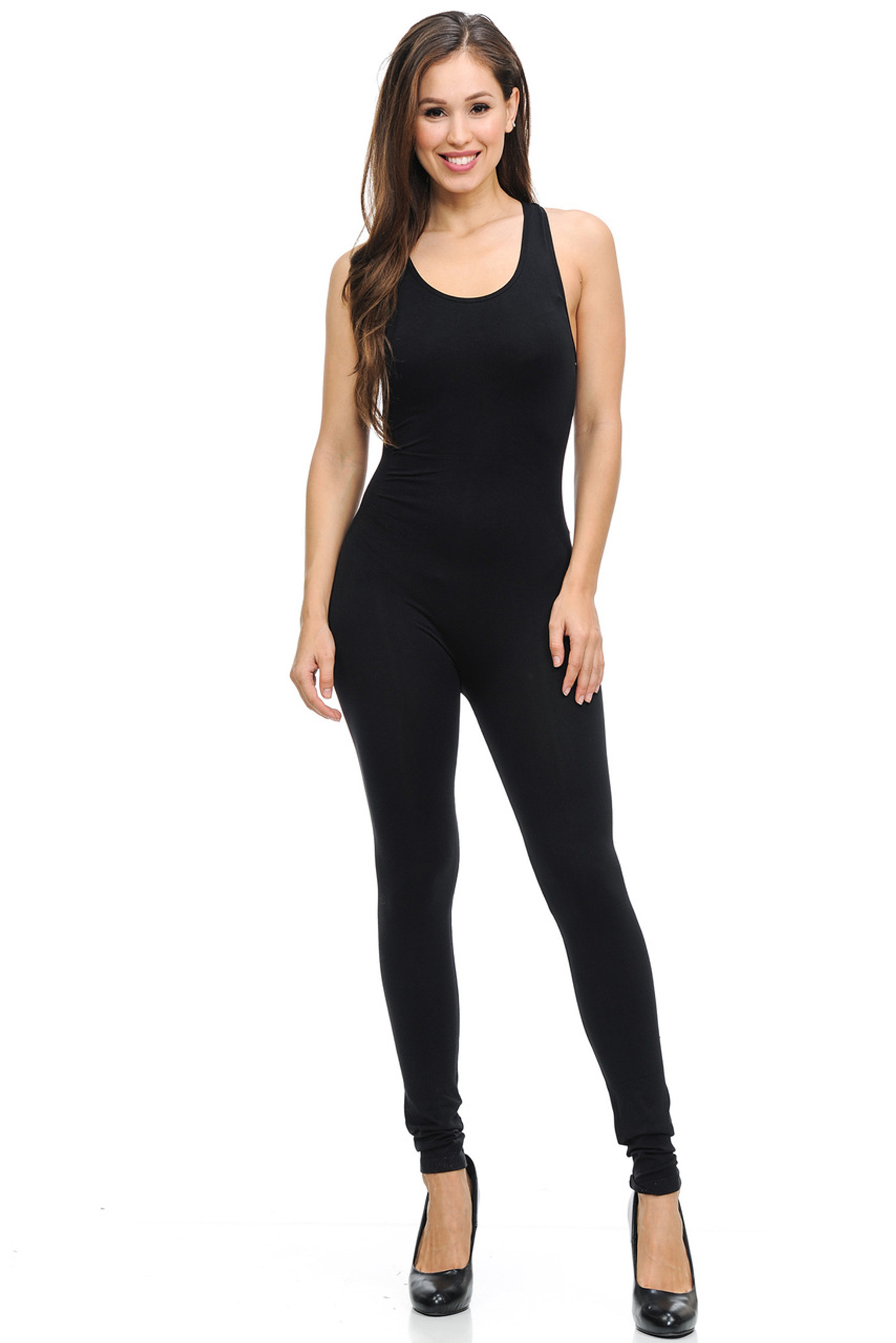 Basic Nylon Spandex Jumpsuit
