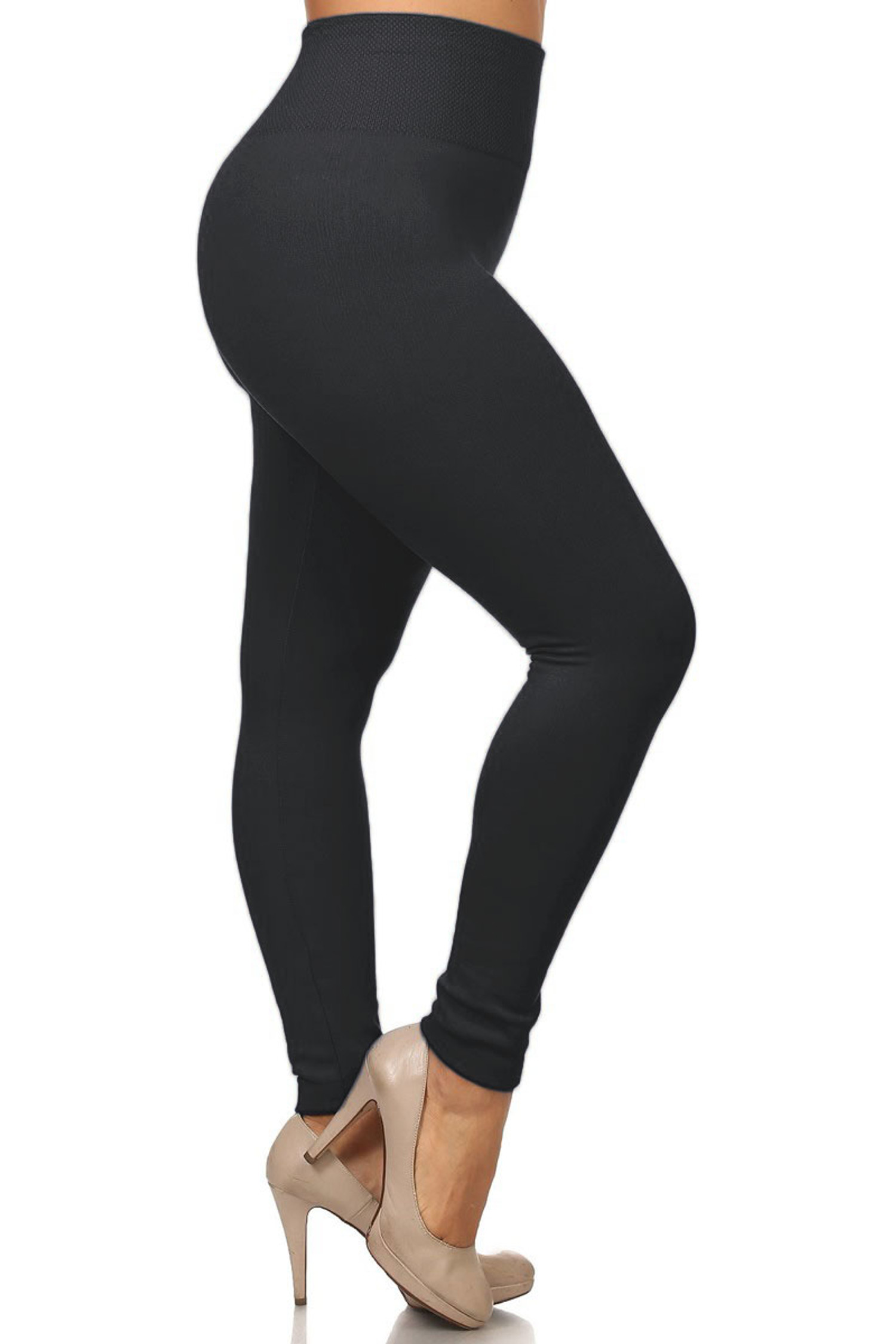 High Waist Thick Fleece Lined Plus Size Leggings