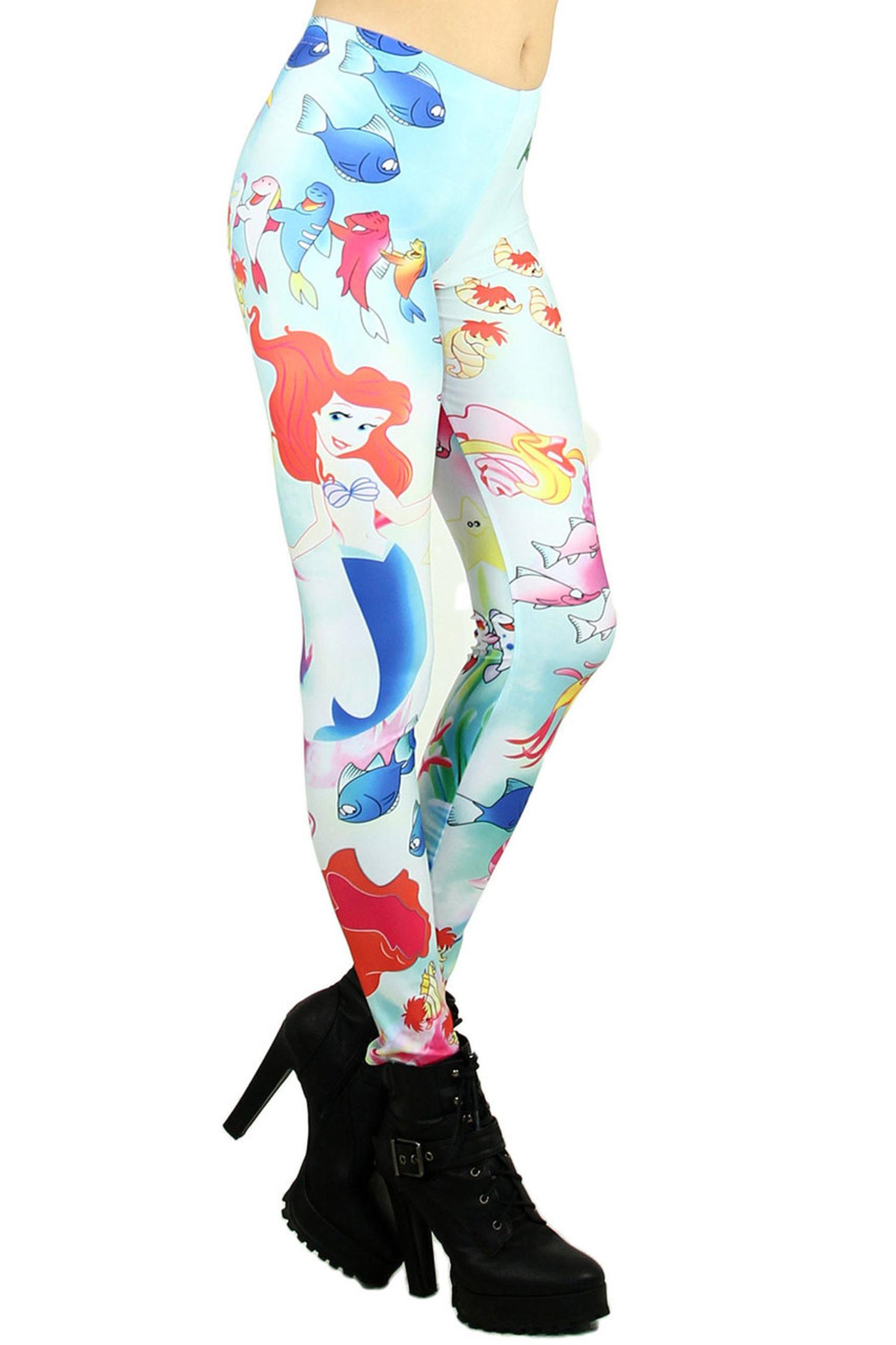 Little Mermaid Princess Leggings