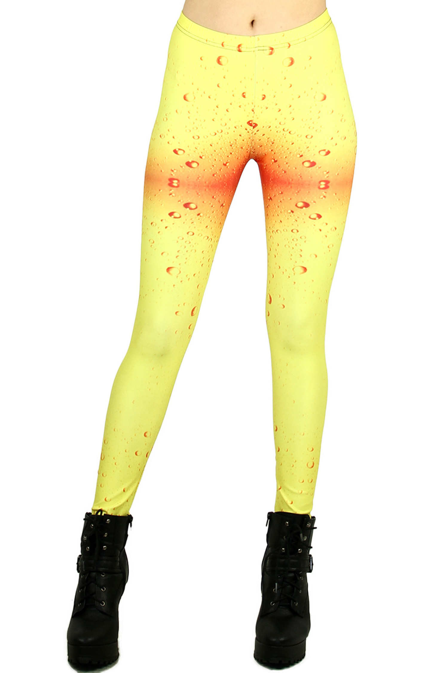 Yellow Water Drop Leggings