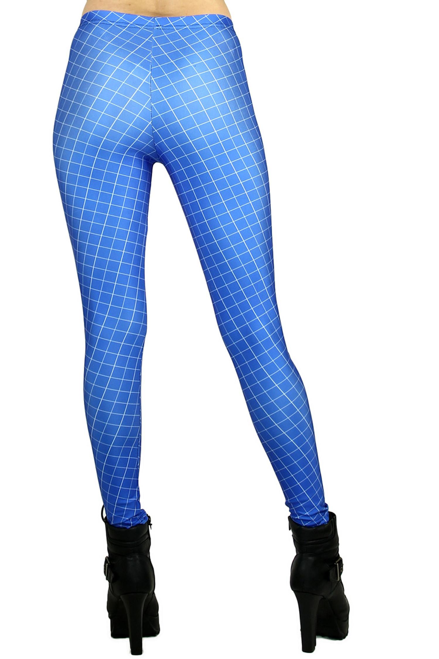 Blue Crisscross Leggings - Plus Size