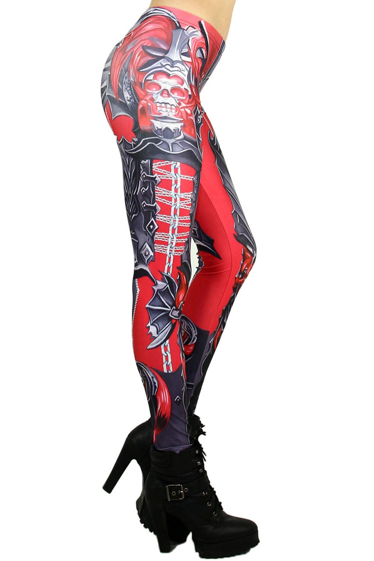 Red Chain Link Armor Leggings