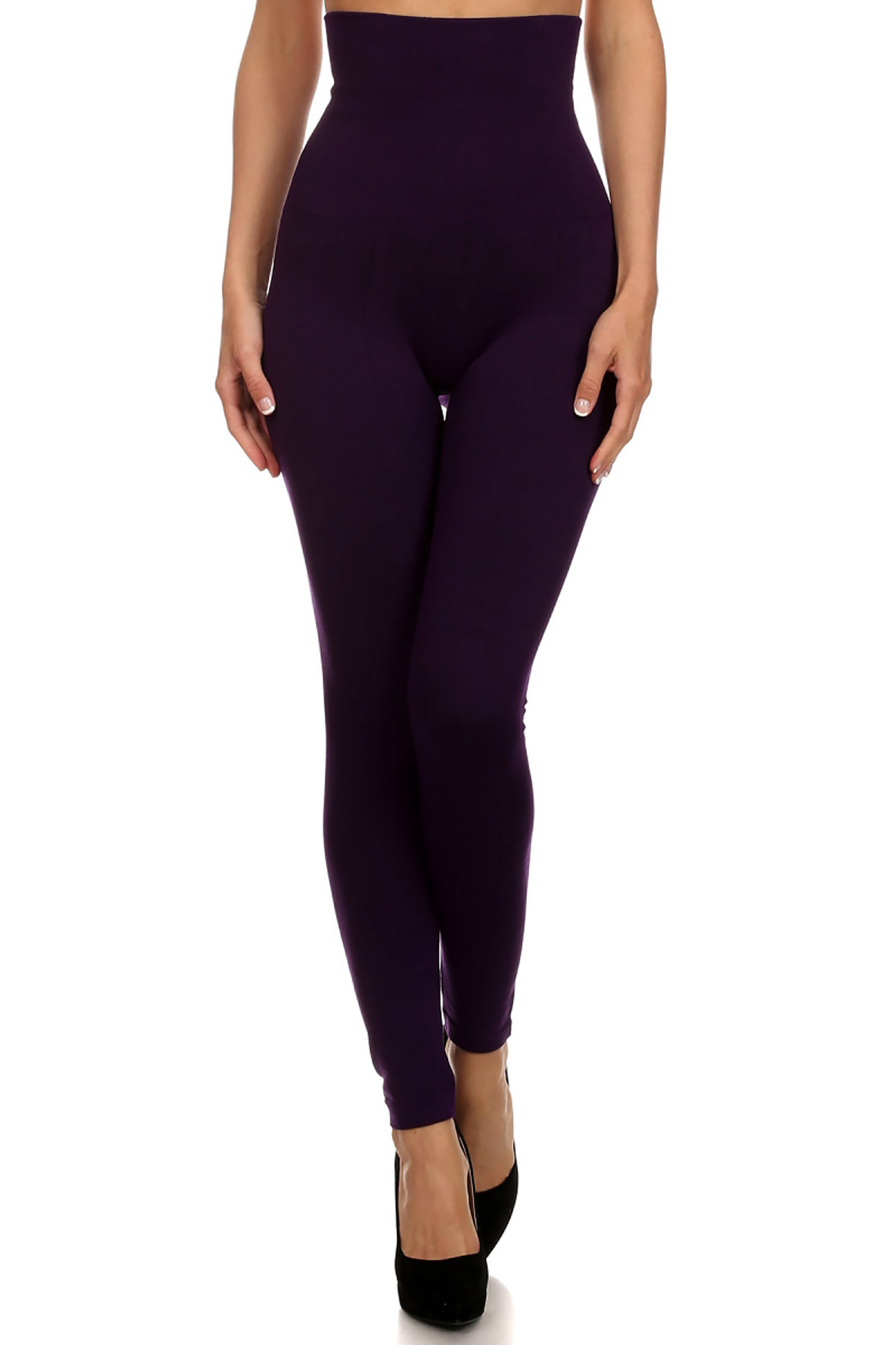 High Waist French Terry Compression Leggings