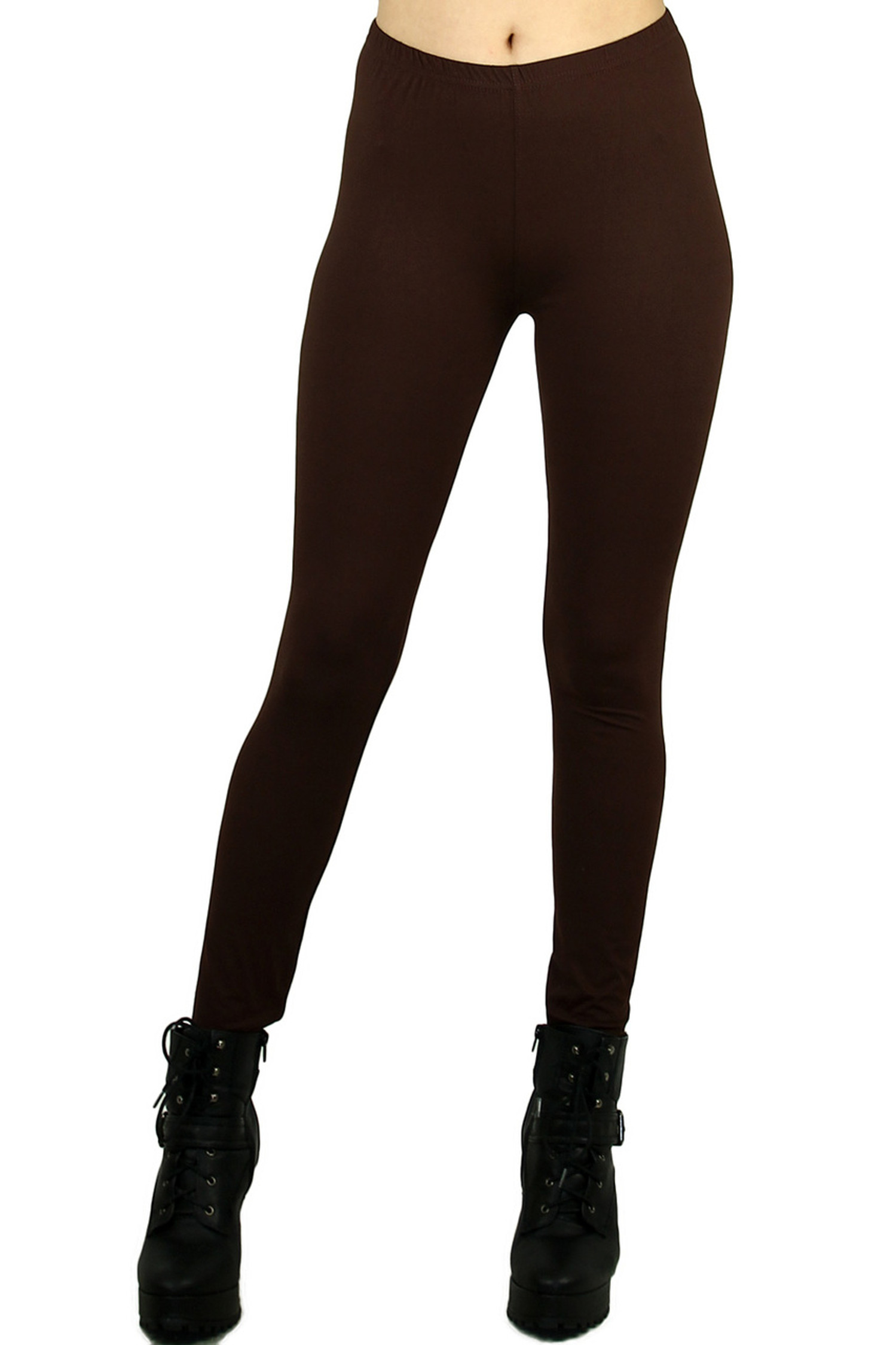 Brushed Buttery Soft Basic Solid Leggings