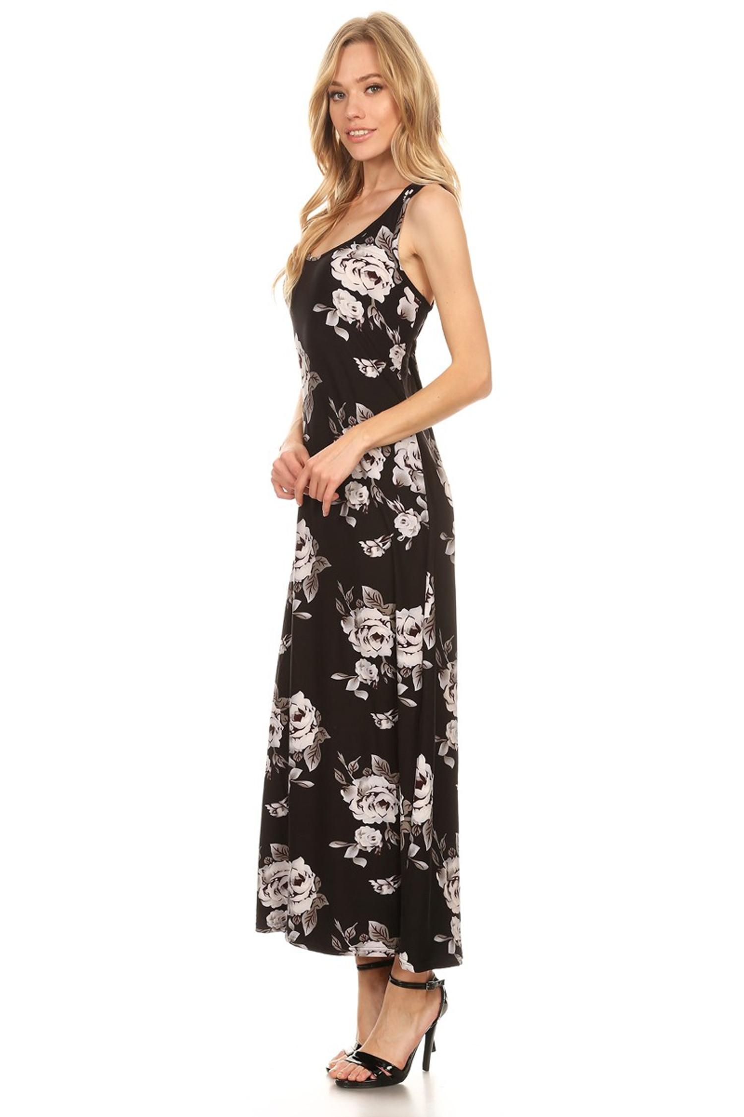 Night Bloom Floral Maxi Dress