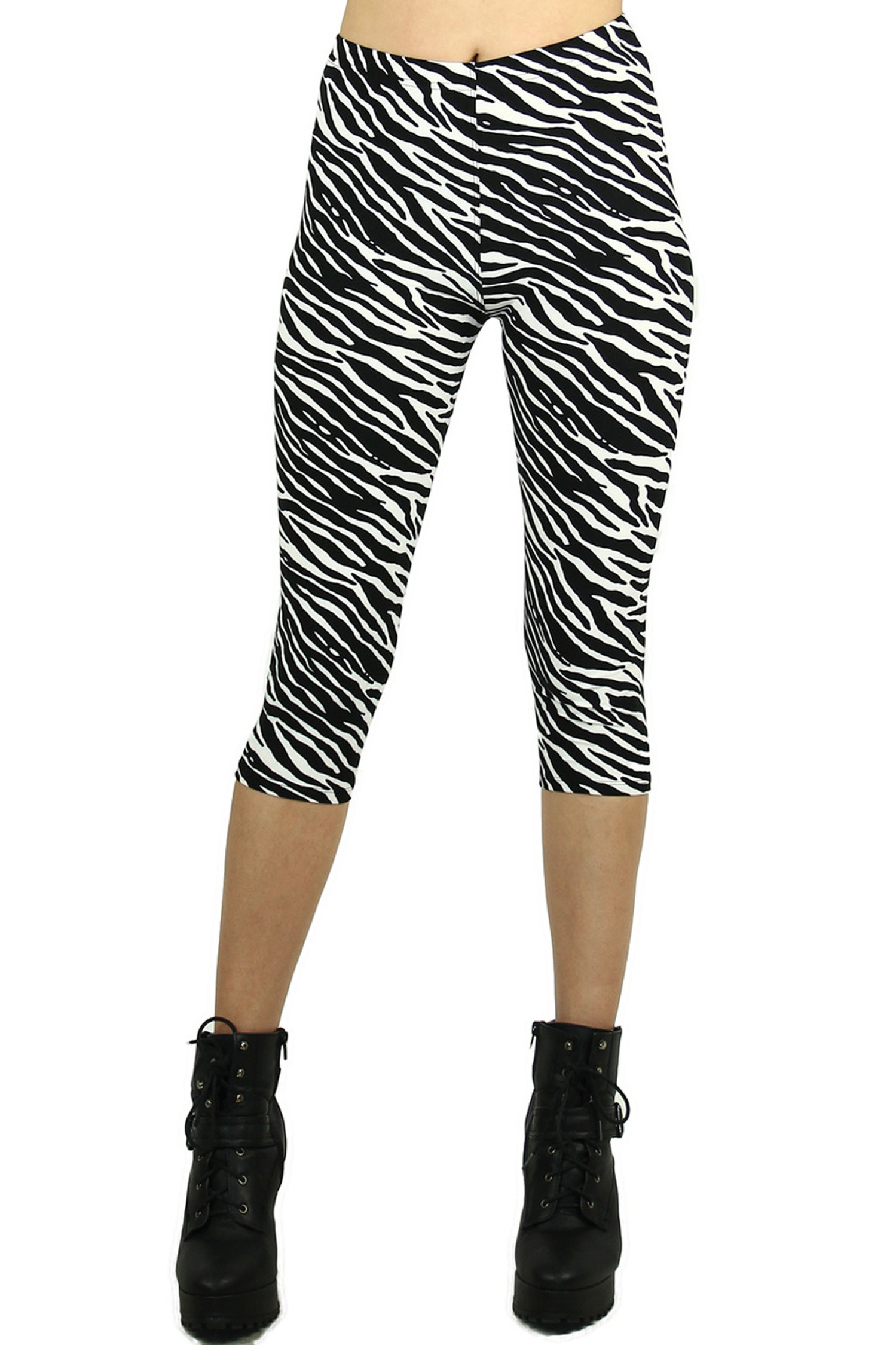 Sexy Zebra Capri Leggings