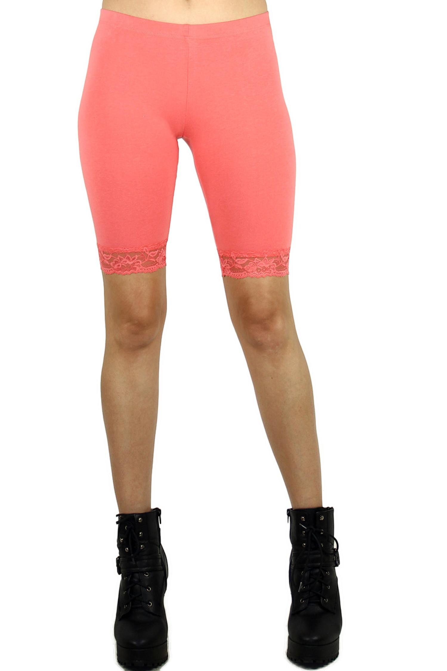 USA Cotton Lace Thigh Shorts