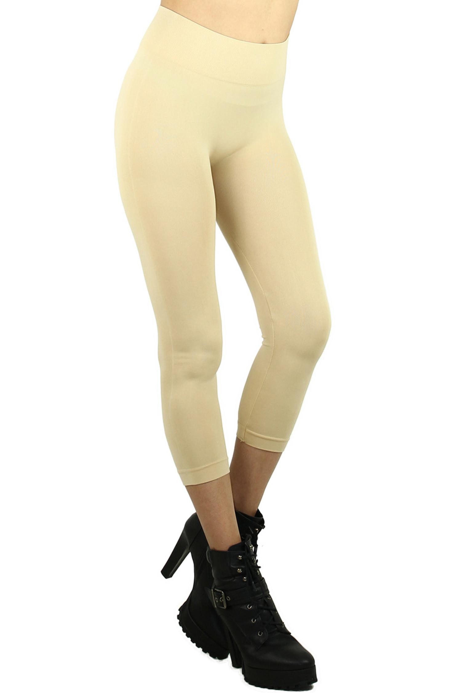 Basic Spandex Capri Leggings
