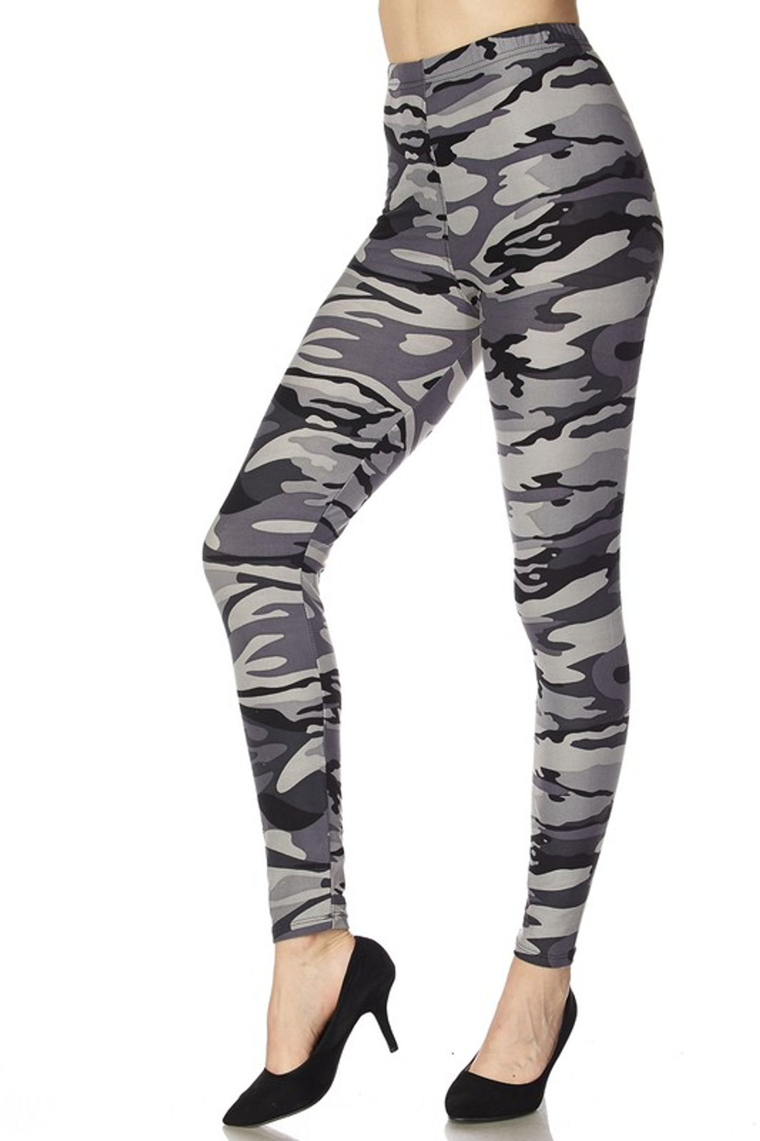 Shades of Gray Camouflage Leggings