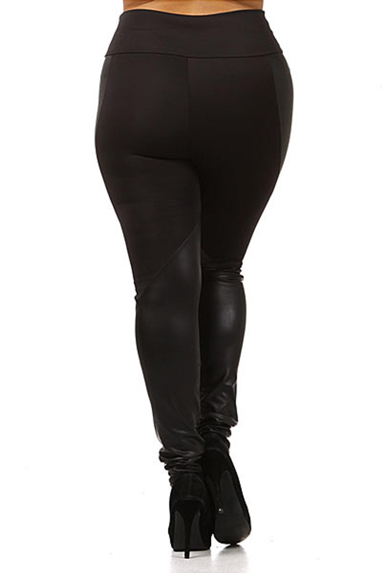 Chatelaine Faux Leather Leggings Plus Size
