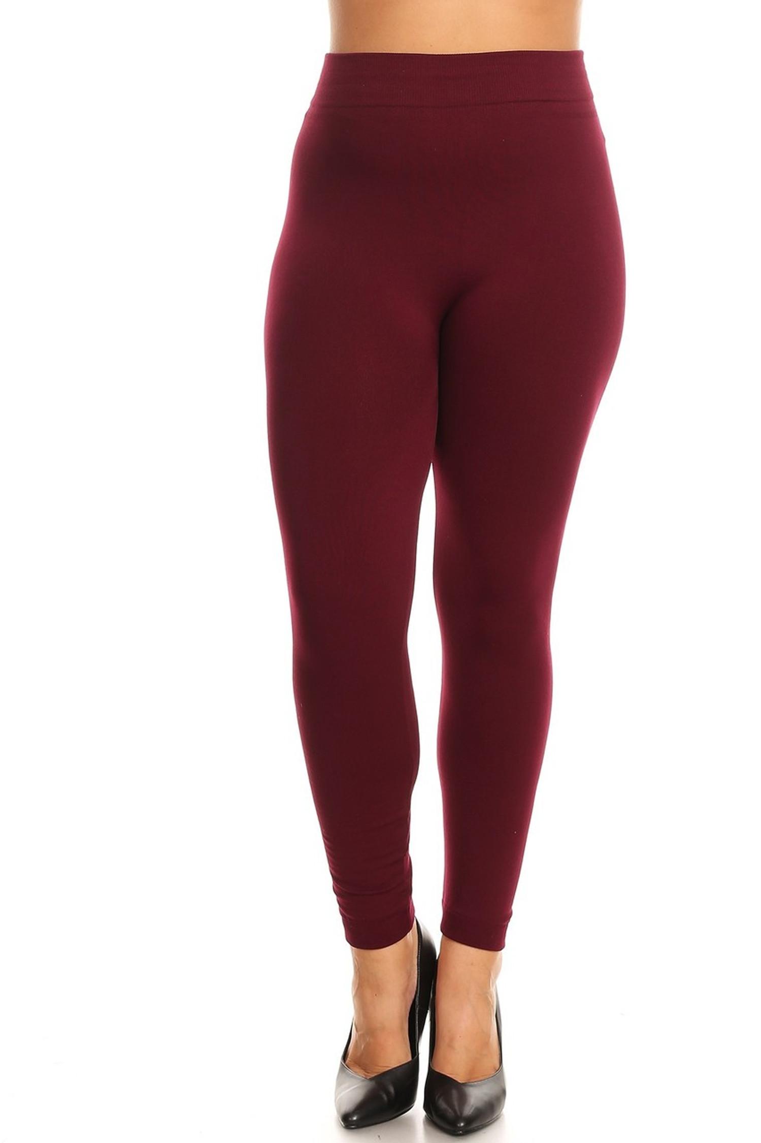 Fleece Lined Leggings - Plus Size