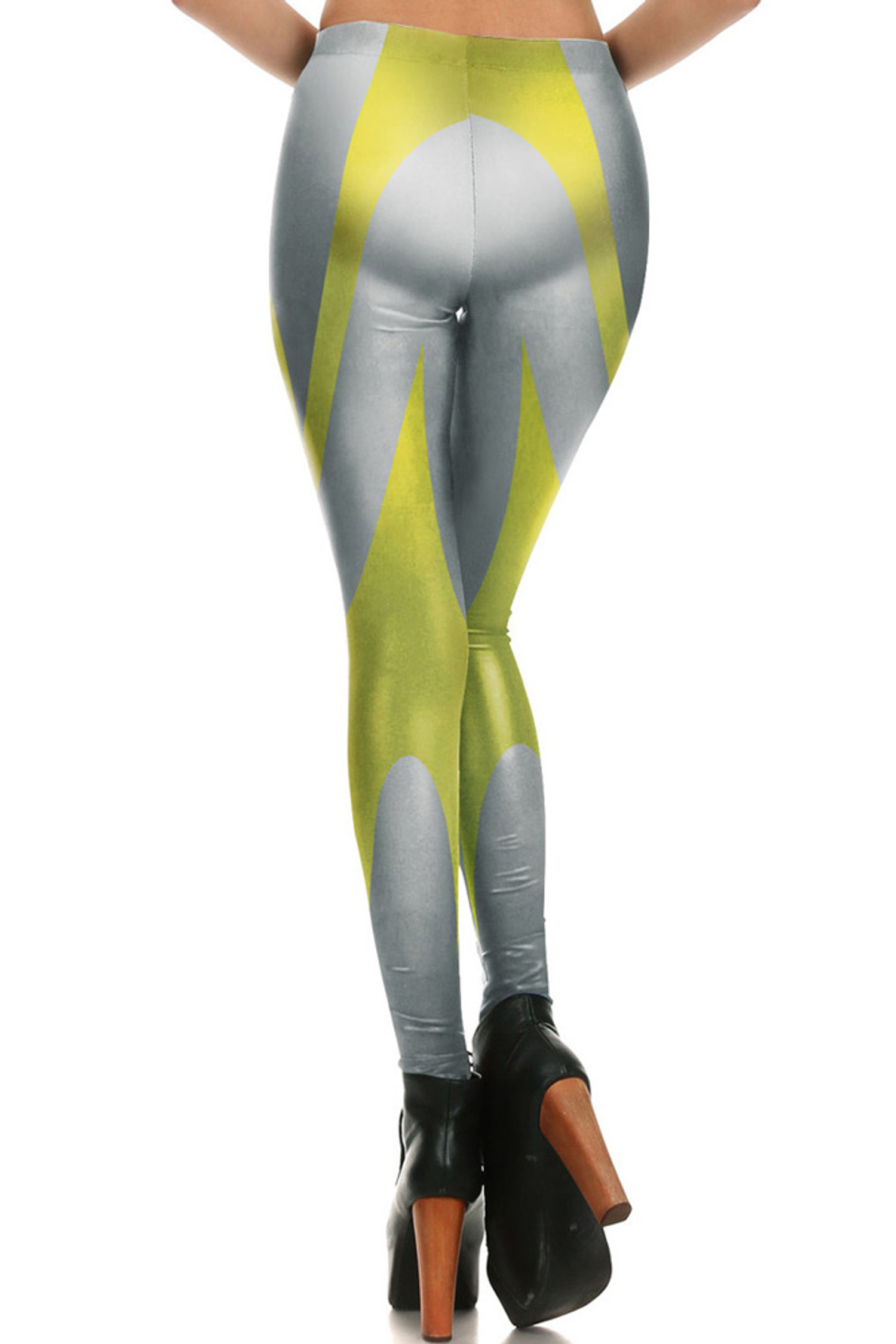 Silver and Gold Contour Leggings