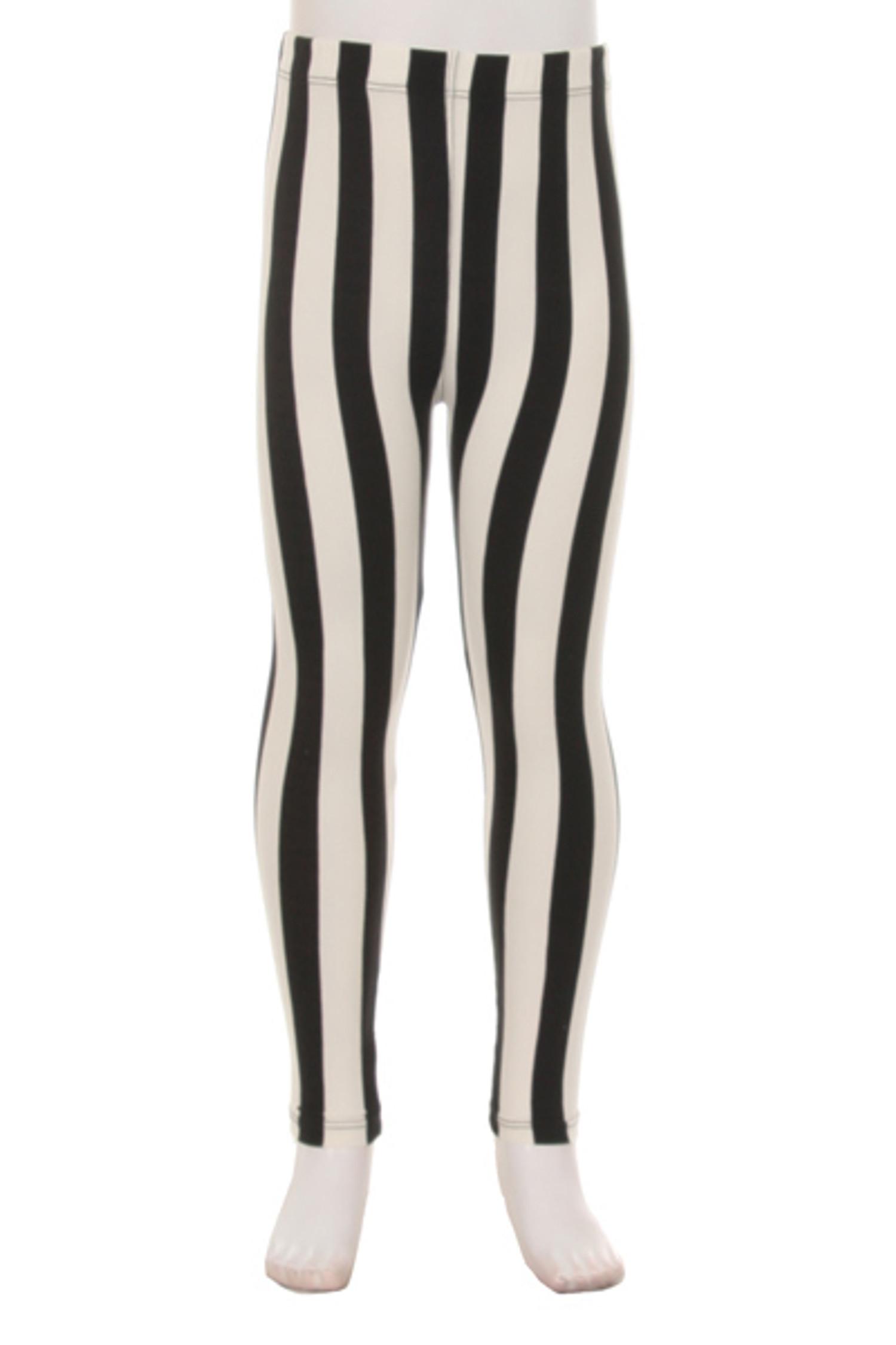 Wholesale Buttery Soft Vertical Wide Stripe Kids Leggings