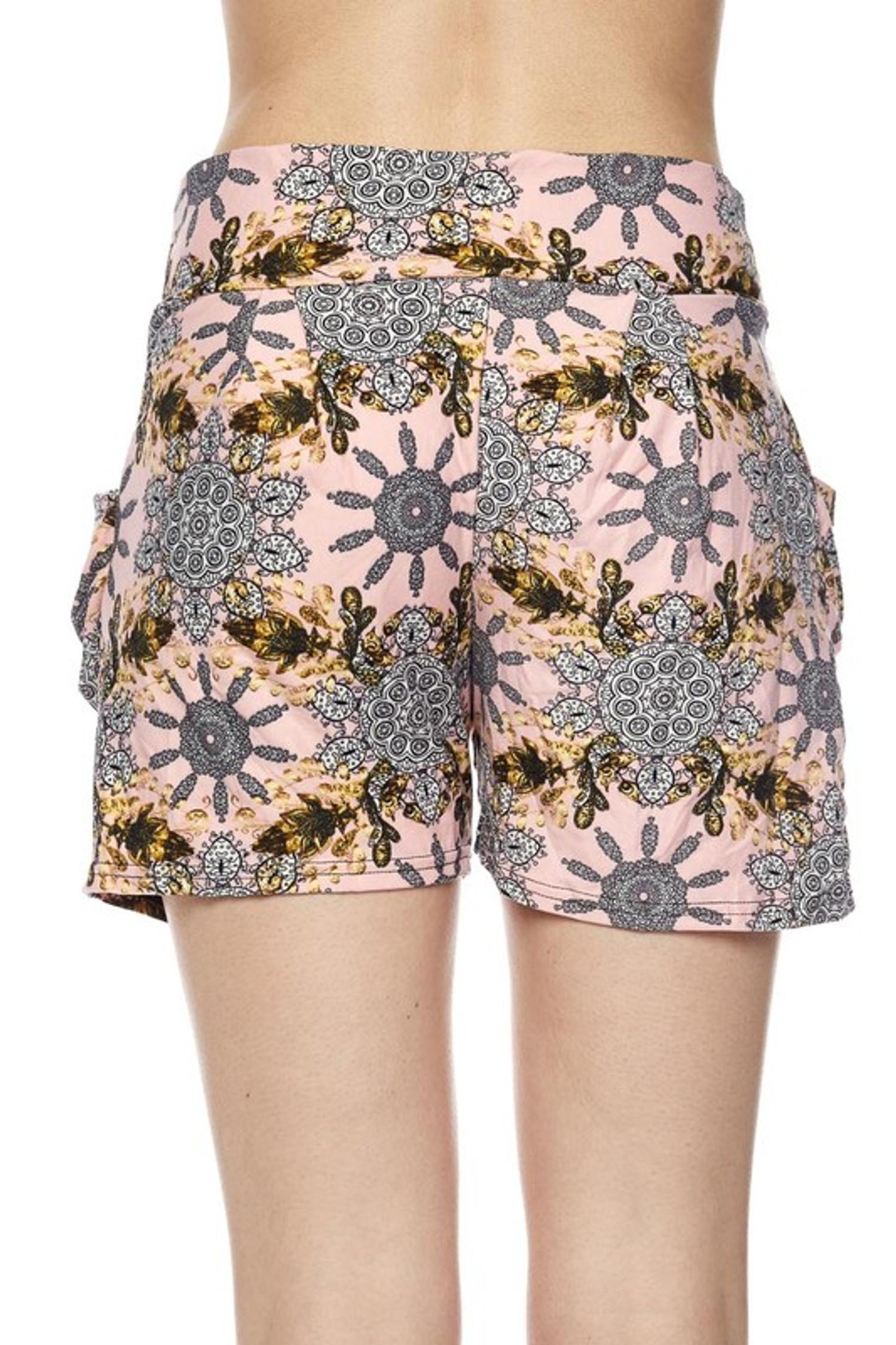 Gorgeous Pink Motif Harem Shorts