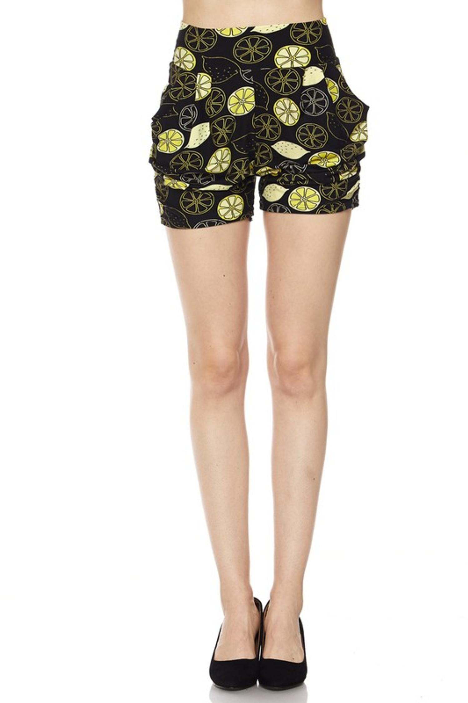 Wholesale Buttery Soft Lemon Harem Shorts