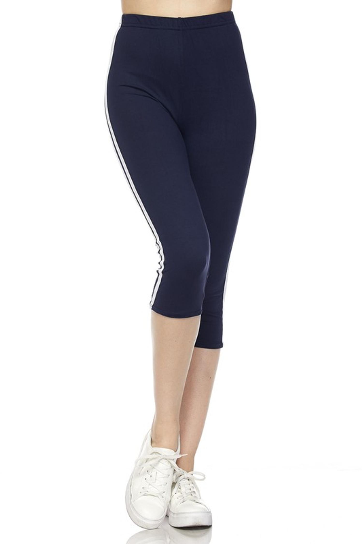 Sport Stripe Basic Capris